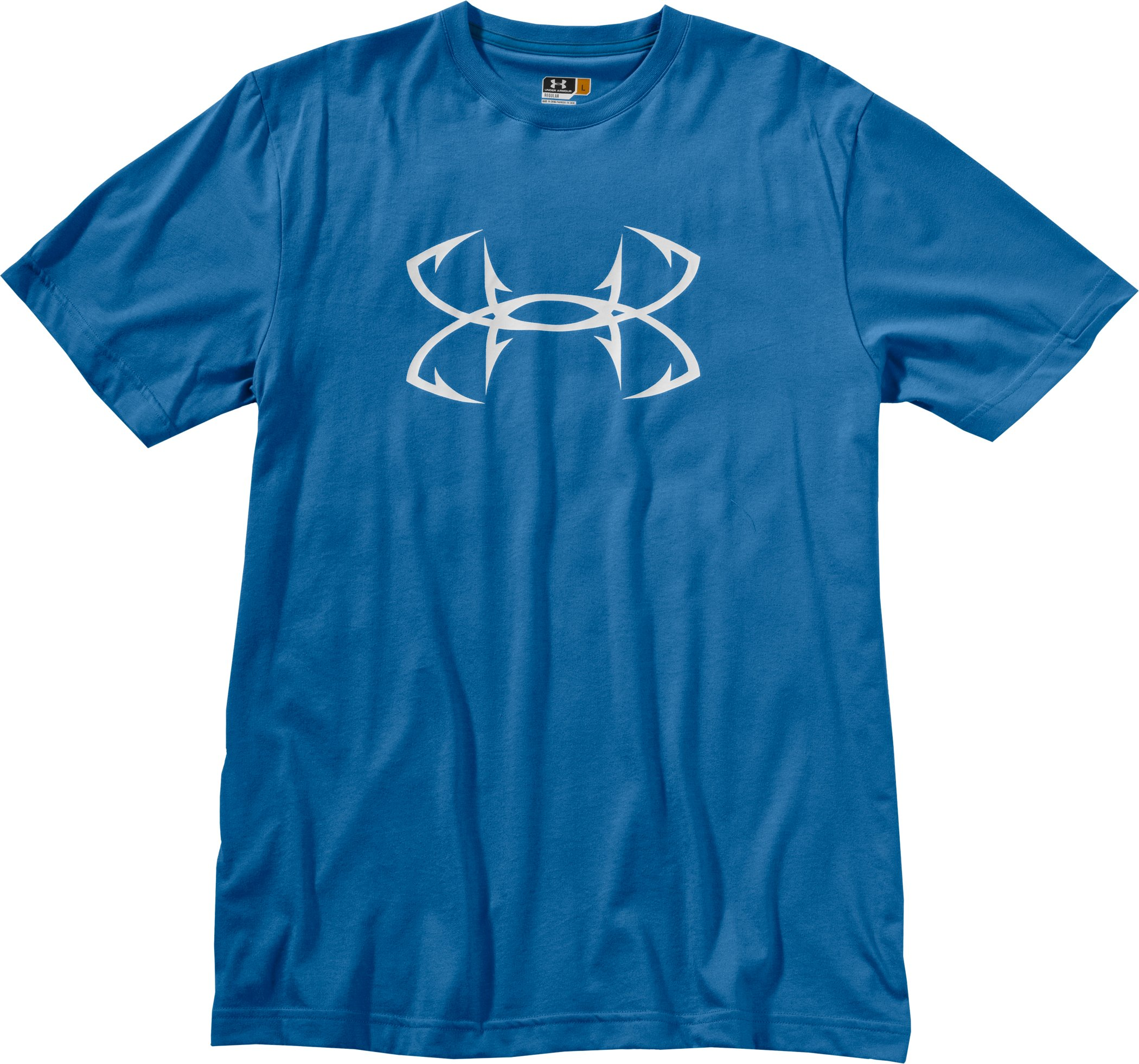 Men's UA Fish Hook Logo T-Shirt, St. Tropez, Laydown