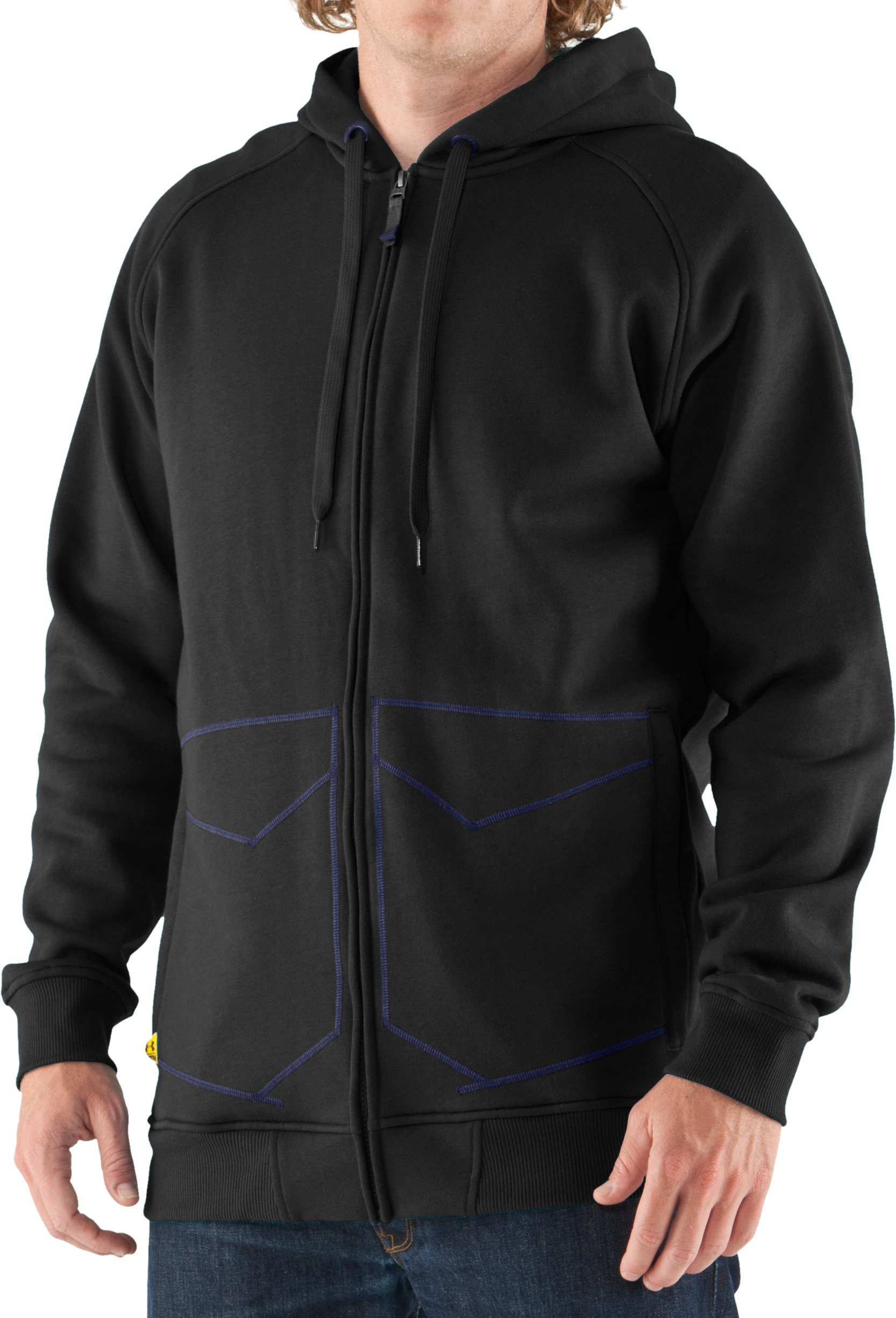 Men's UA Unchained Hoodie, Black , zoomed image