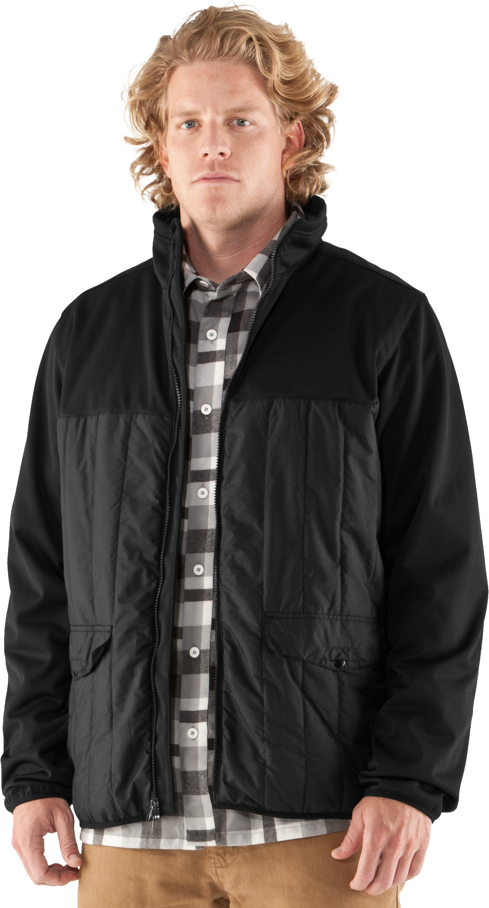 Men's UA Oh Gee Full Zip Jacket, Black , zoomed image