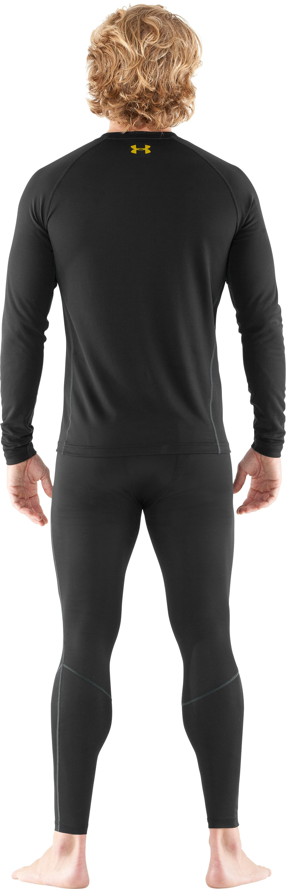 Men's UA Base™ 1.0 Long Sleeve Crew, Black , Back