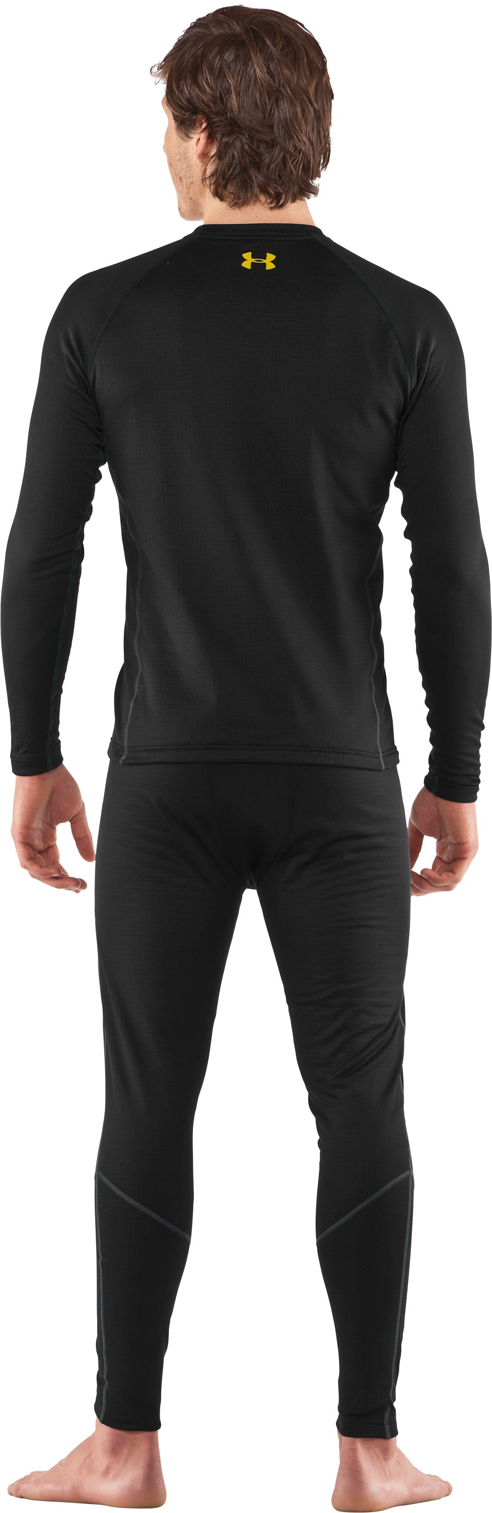 Men's UA Base™ 2.0 Baselayer Leggings, Black , Back