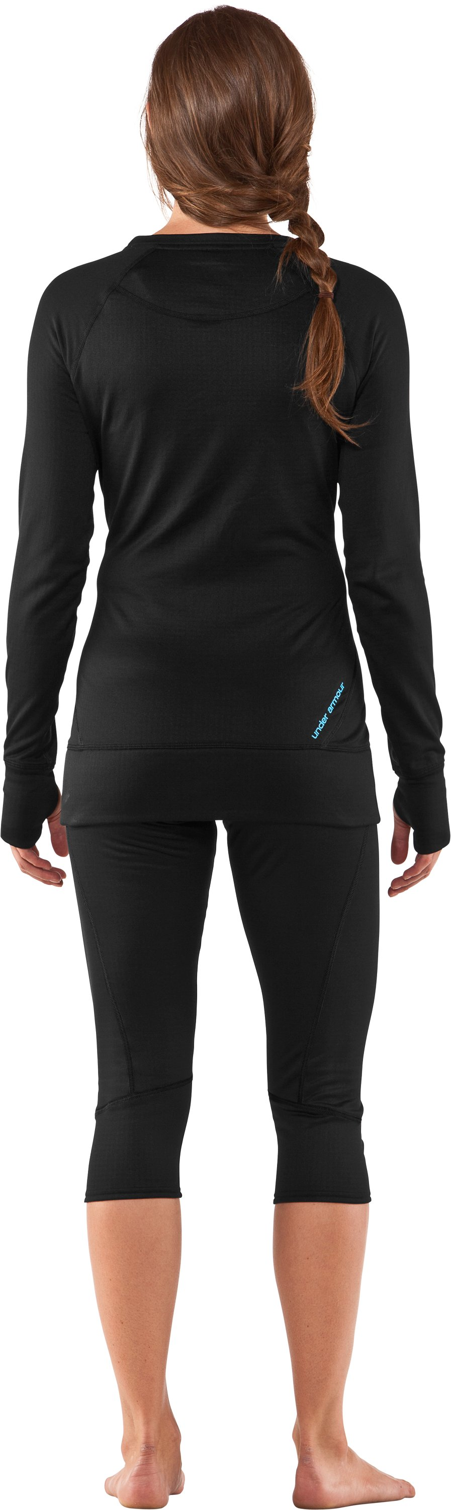 Women's UA Base™ 2.0 Crew, Black , Back