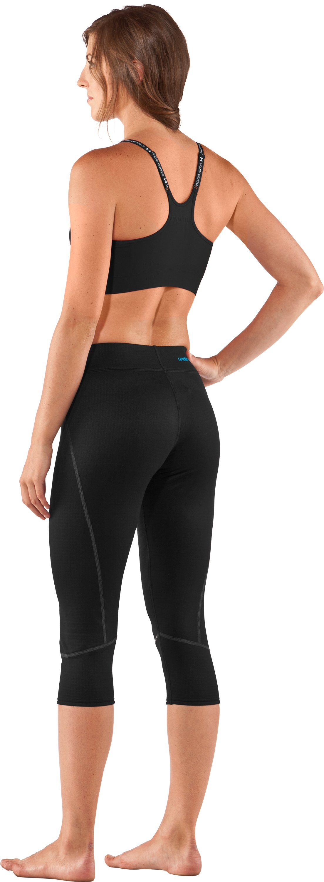 Women's UA Base™ 2.0 ¾ Legging, Black , Back