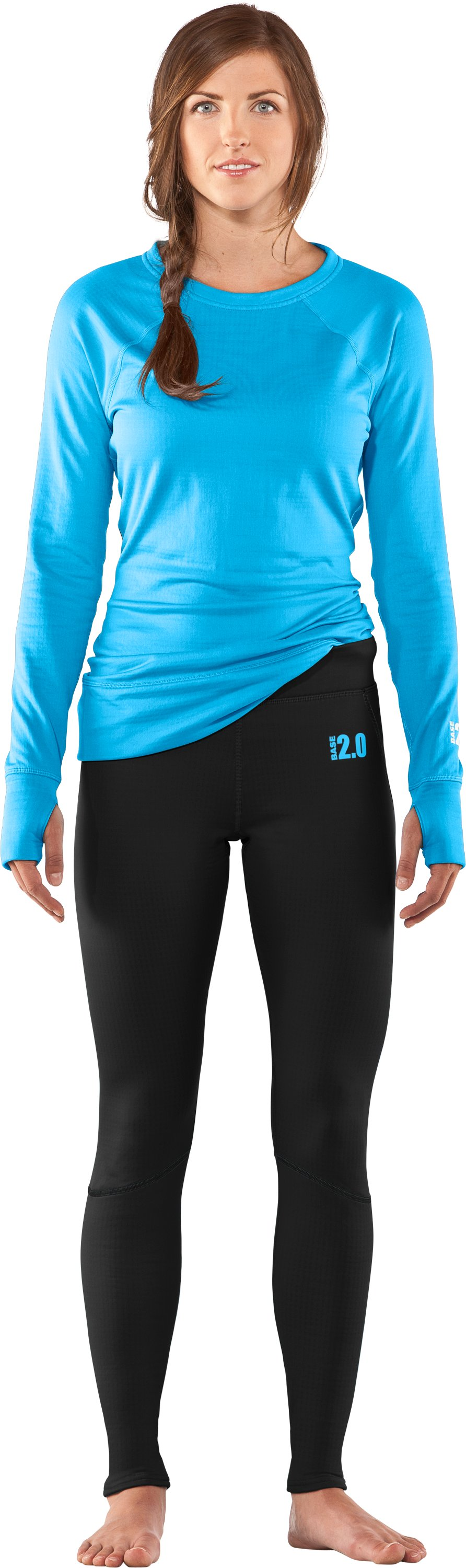 Women's UA Base™ 2.0 Leggings, Black , Front