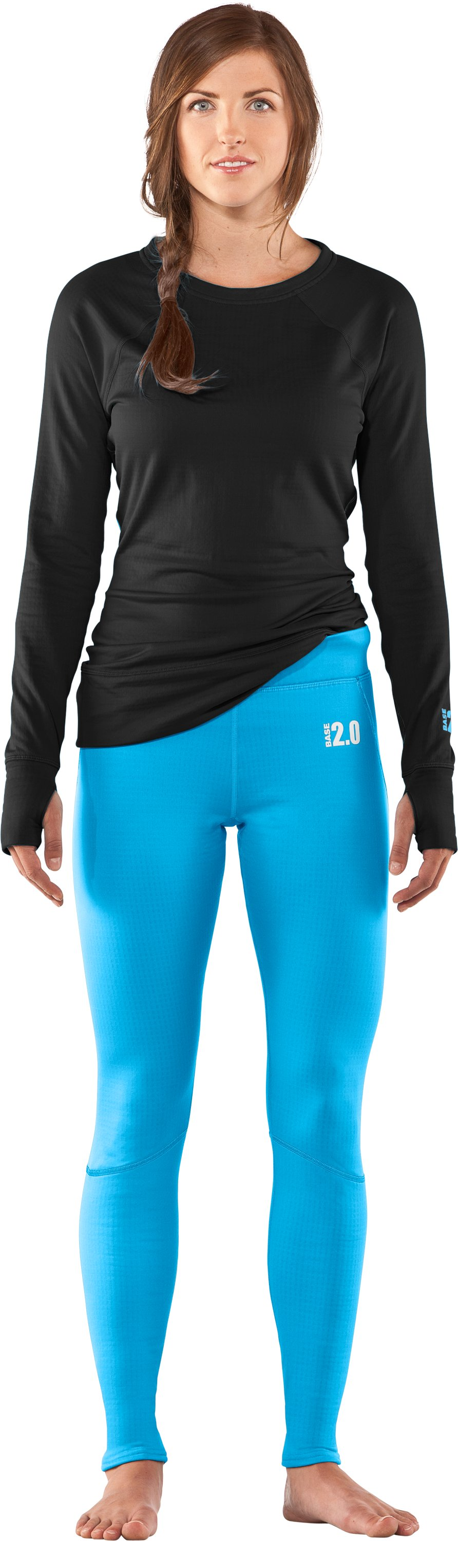 Women's UA Base™ 2.0 Leggings, Cortez, Front