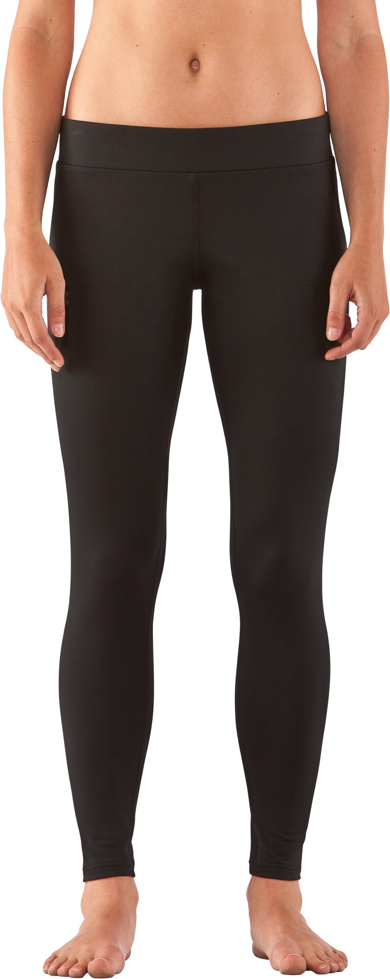 Women's UA EVO ColdGear® Leggings, Black , zoomed image