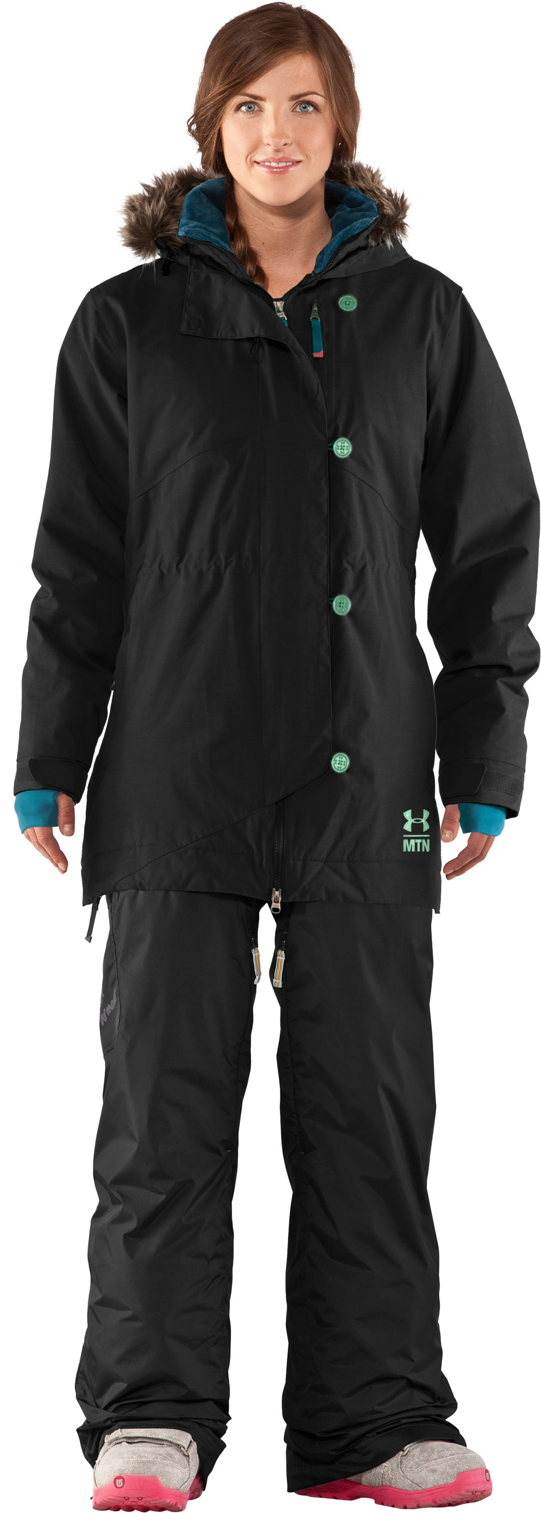Women's UA Snowblind Jacket, Black , zoomed image