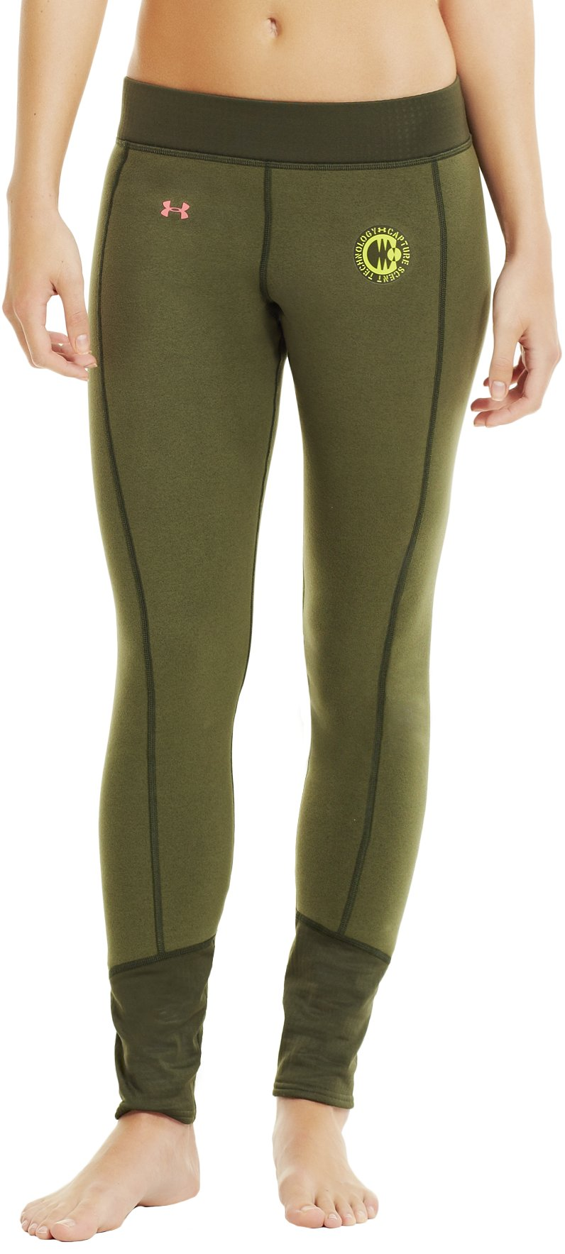 Women's UA Extreme ColdGear® Base Leggings, Rifle Green, zoomed image