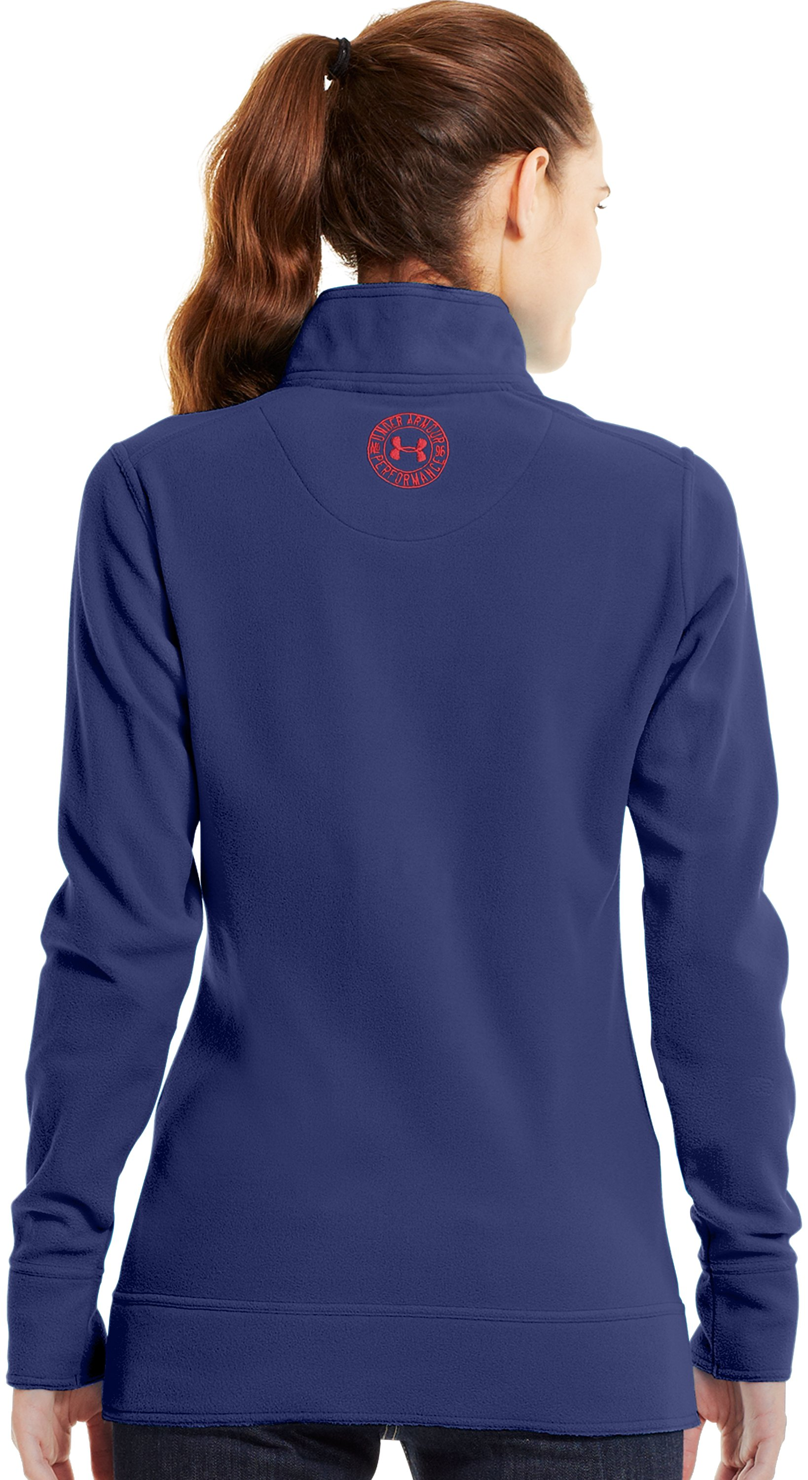 Women's UA Hundo® ¼ Zip Fleece, REGAL, Back