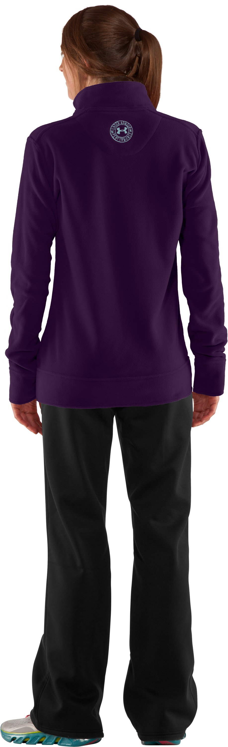 Women's UA Hundo® ¼ Zip Fleece, Cyclone, Back