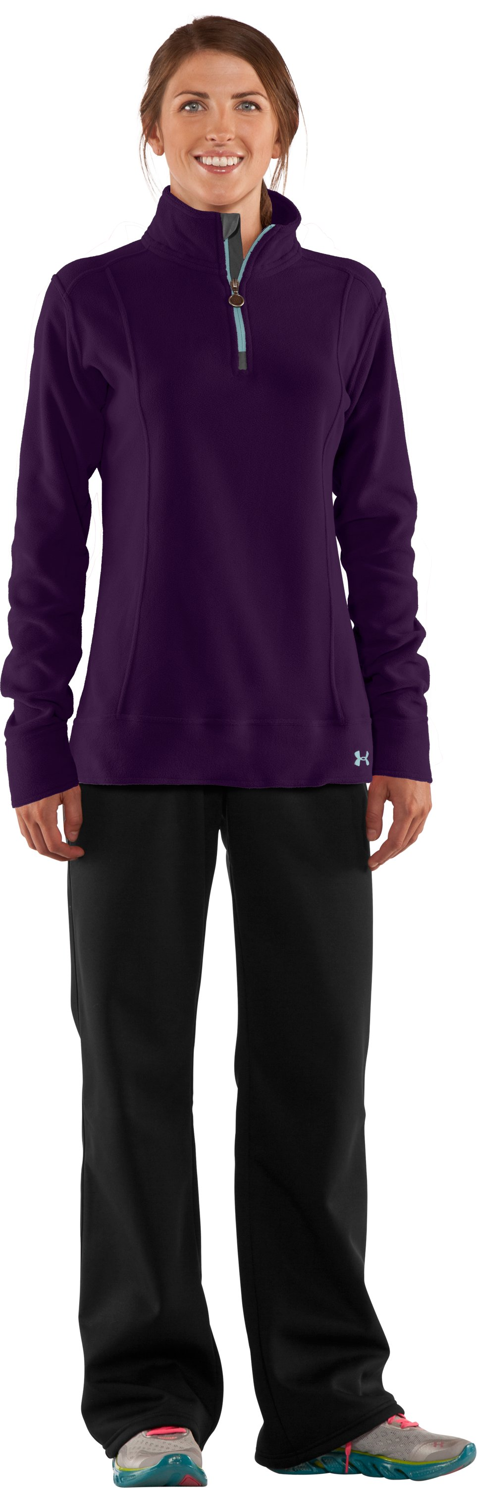 Women's UA Hundo® ¼ Zip Fleece, Cyclone, Front