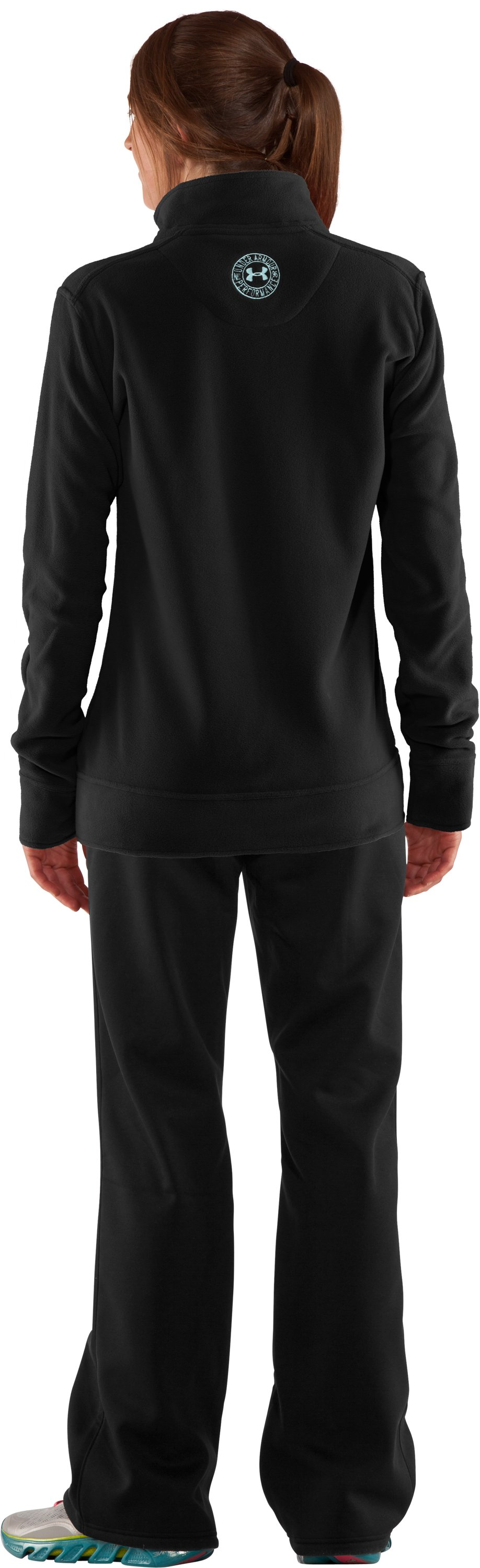 Women's Double Hundo® Full Zip Fleece, Black , Back