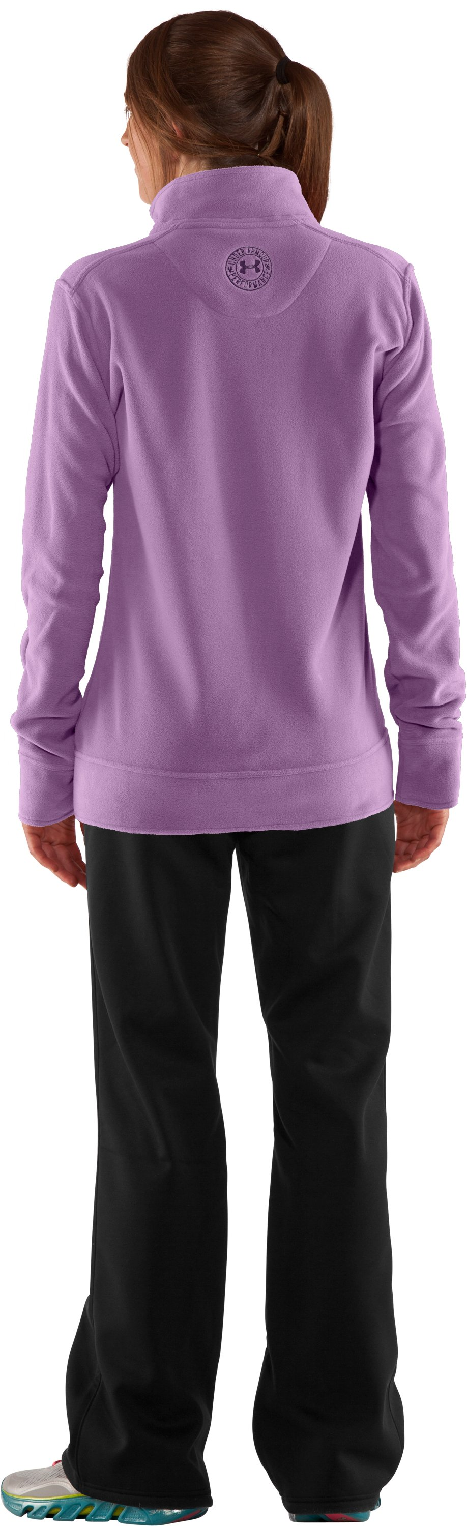 Women's Double Hundo® Full Zip Fleece, Sugar Plum, Back