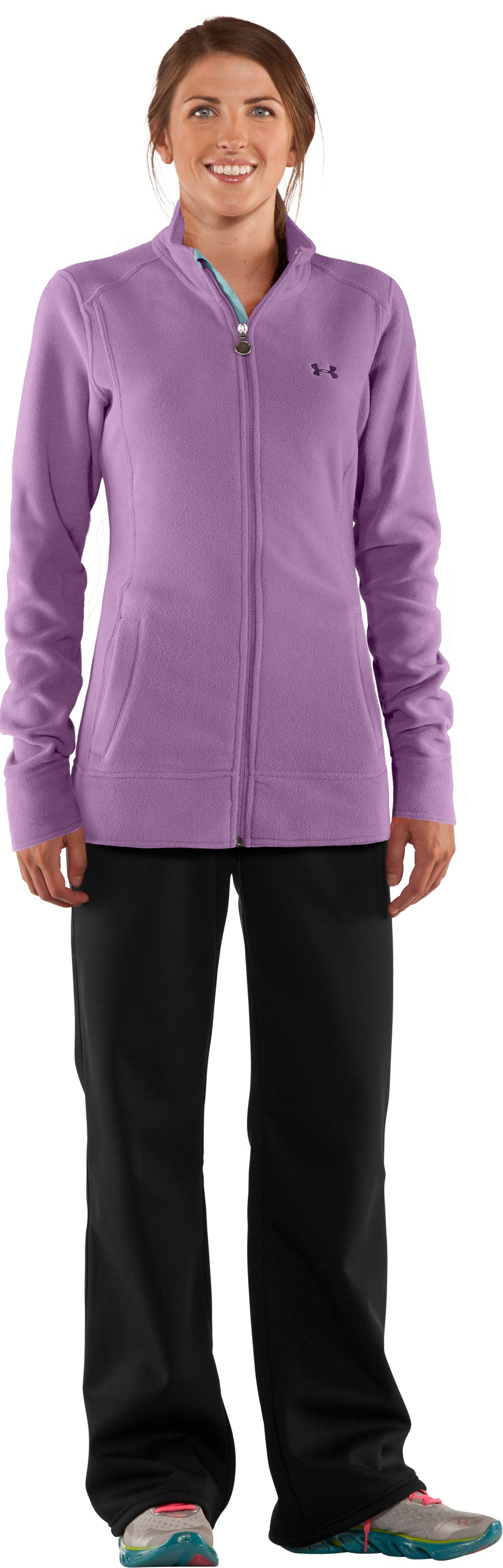 Women's Double Hundo® Full Zip Fleece, Sugar Plum, Front