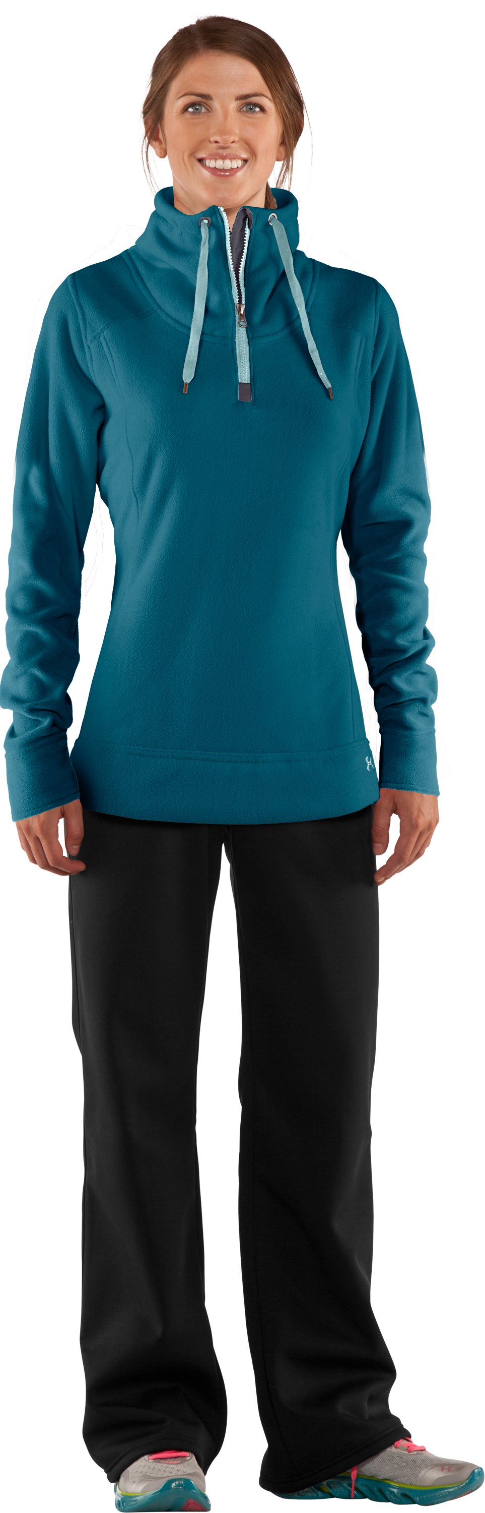 Women's UA Extreme ColdGear® ¼ Zip, Jewel, zoomed image