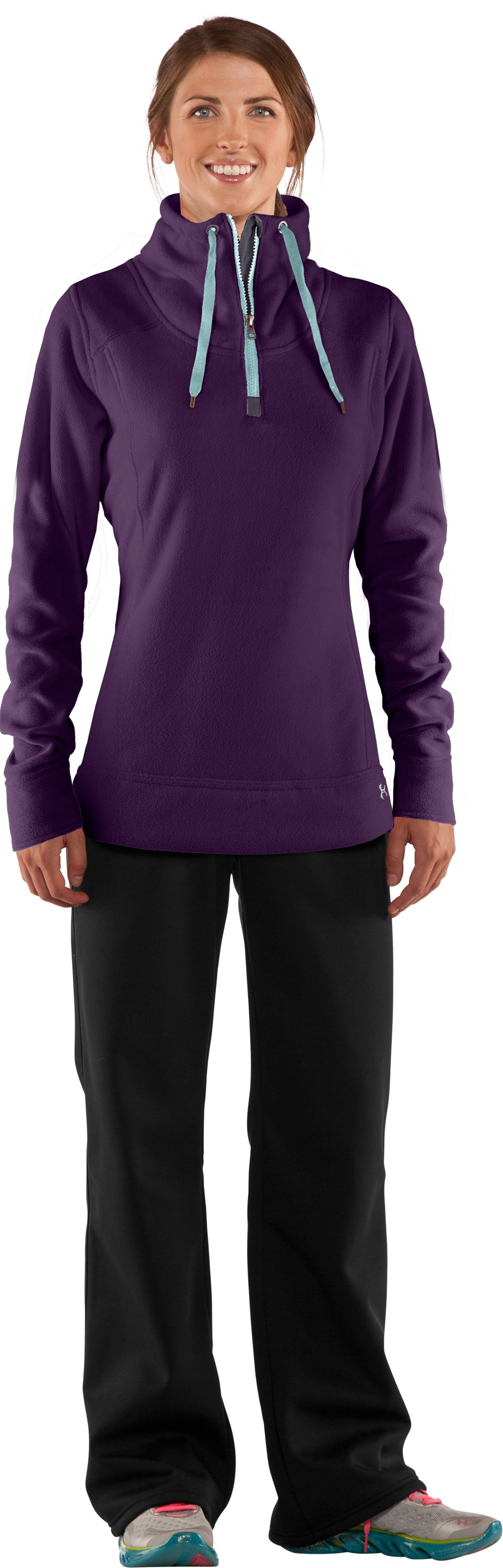 Women's UA Extreme ColdGear® ¼ Zip, Cyclone, zoomed image