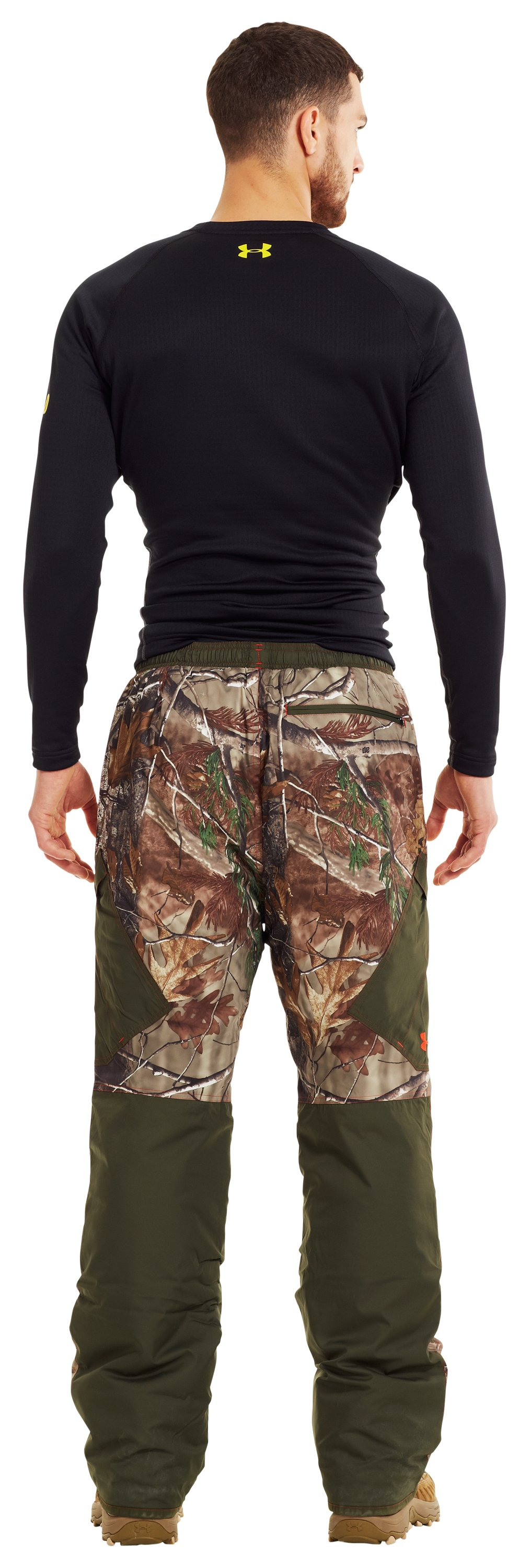 Men's ColdGear® Infrared Ridge Reaper® Primaloft® Pants, REALTREE AP-XTRA, Back