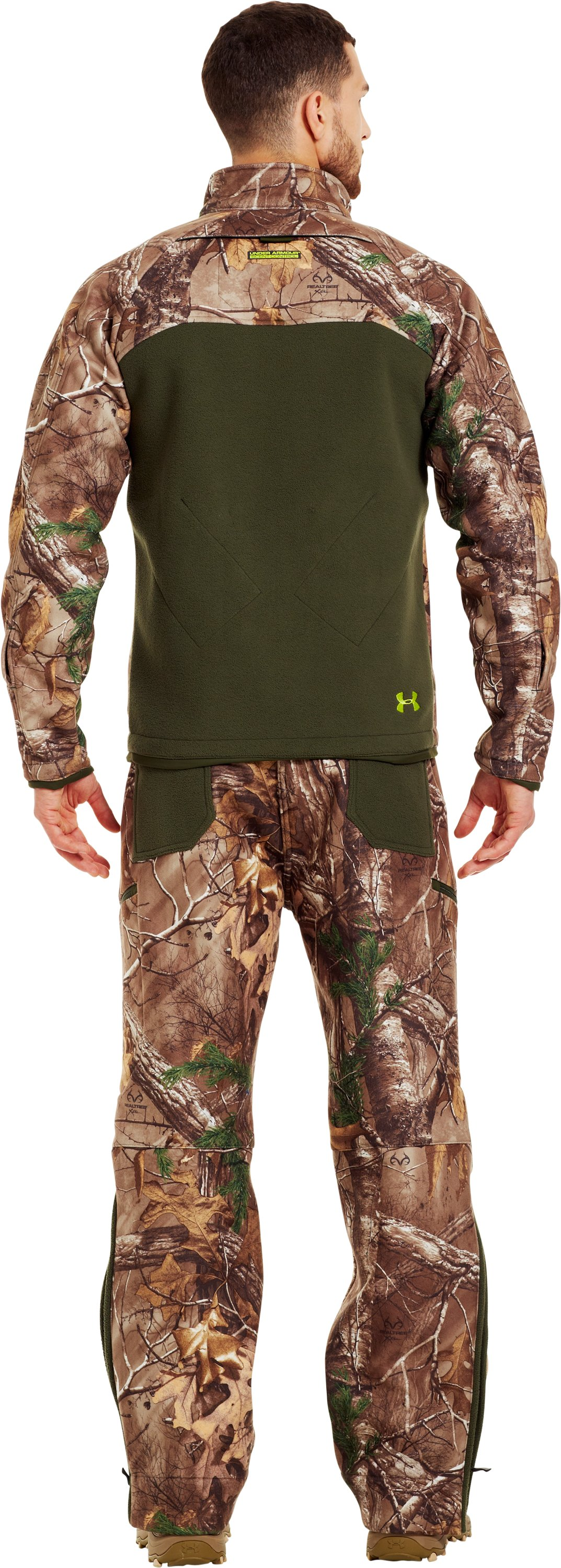 Men's UA Rut Scent Control Jacket, REALTREE AP-XTRA, Back