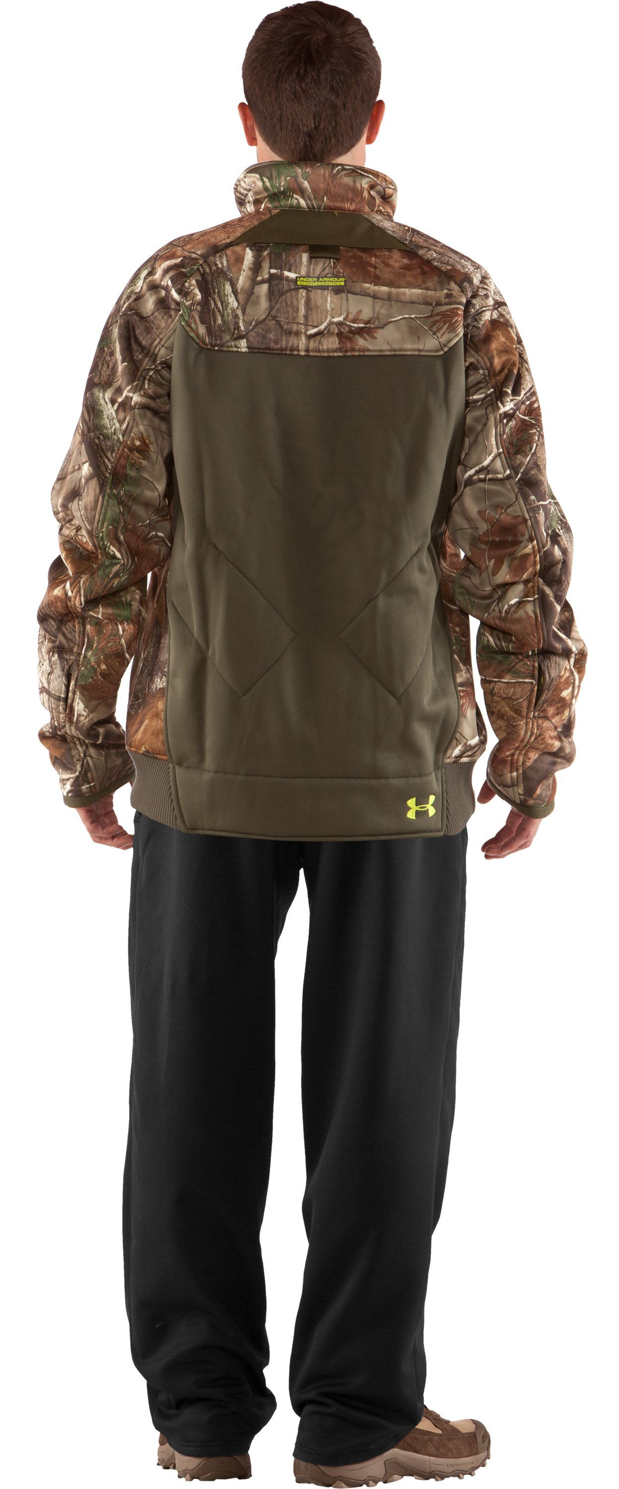 Men's UA Deadcalm Scent Control Jacket, Realtree AP, Back
