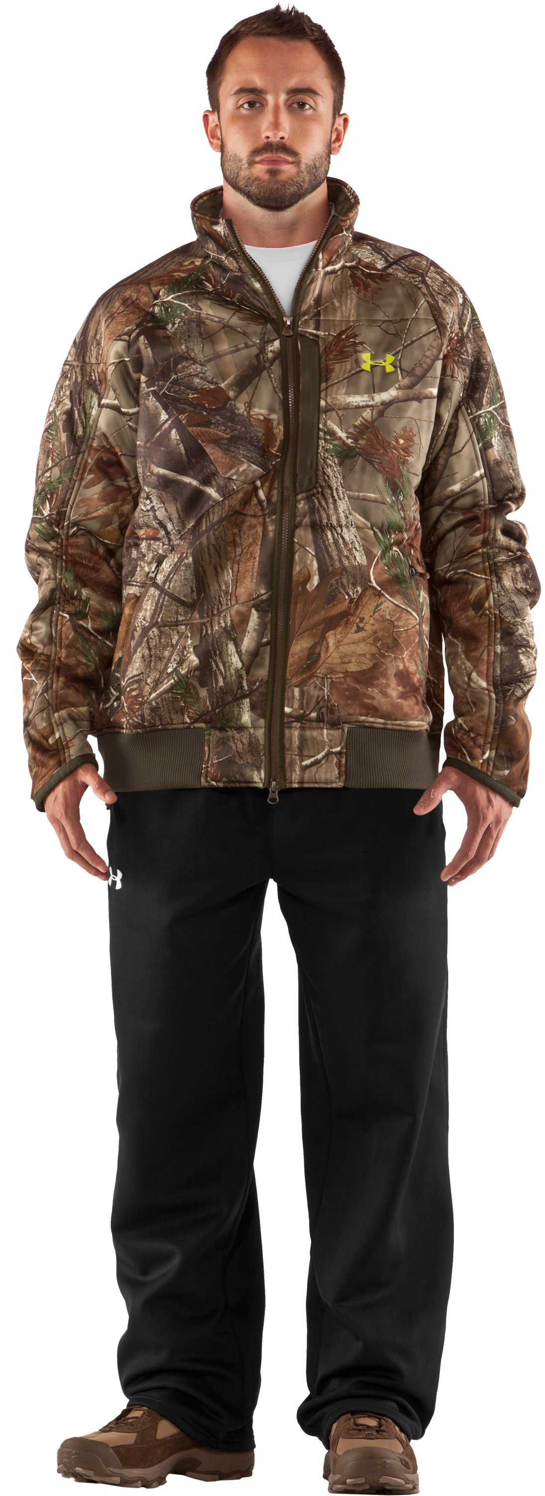Men's UA Deadcalm Scent Control Jacket, Realtree AP, Front