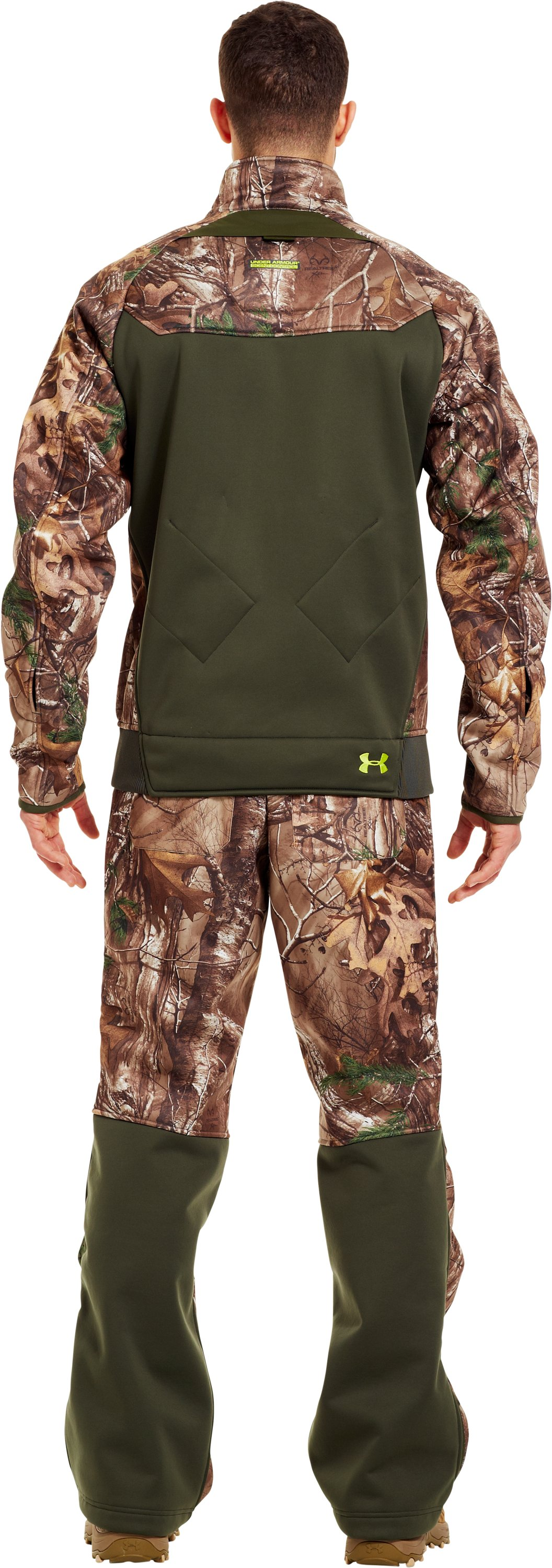 Men's UA Deadcalm Scent Control Jacket, REALTREE AP-XTRA, Back