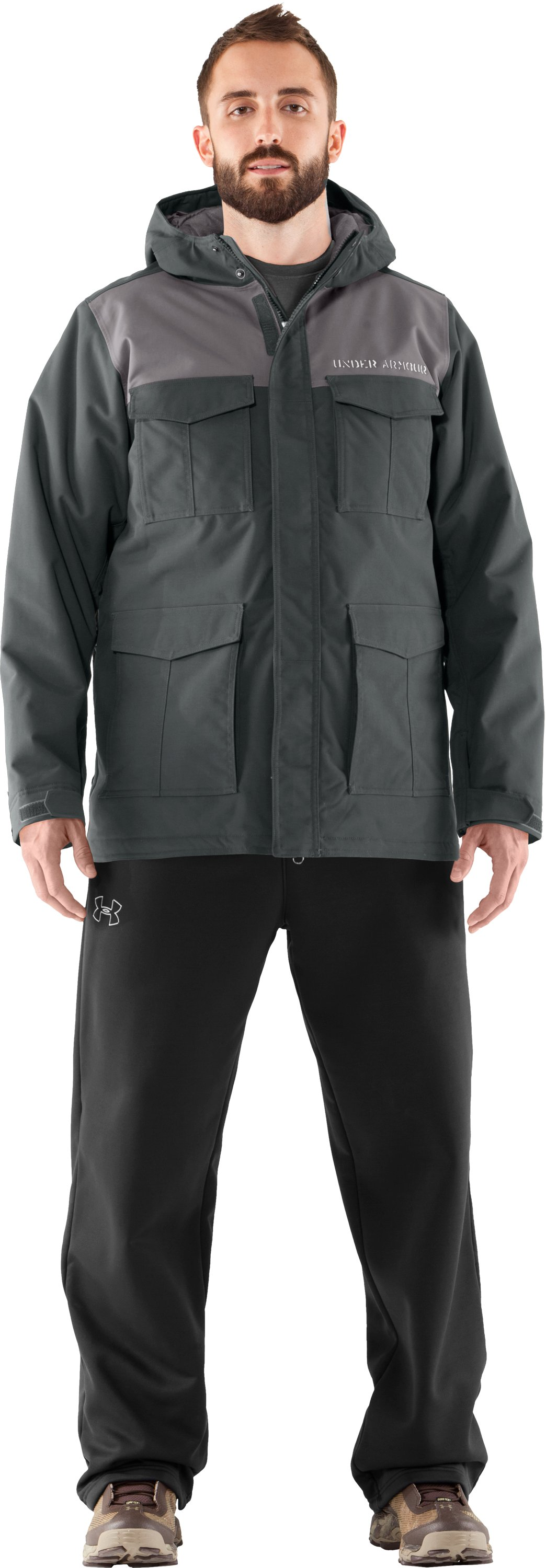 Men's UA Platoon Field Jacket, Battleship, Front