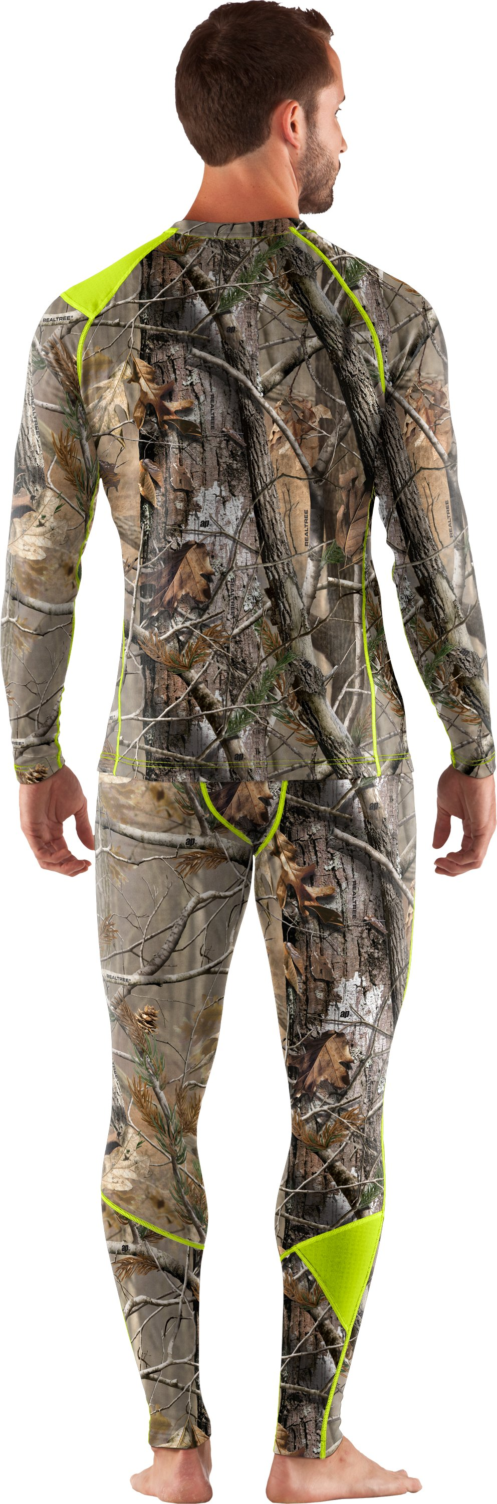 Men's UA Base™ 2.0 Scent Control Crew, Realtree AP, Back