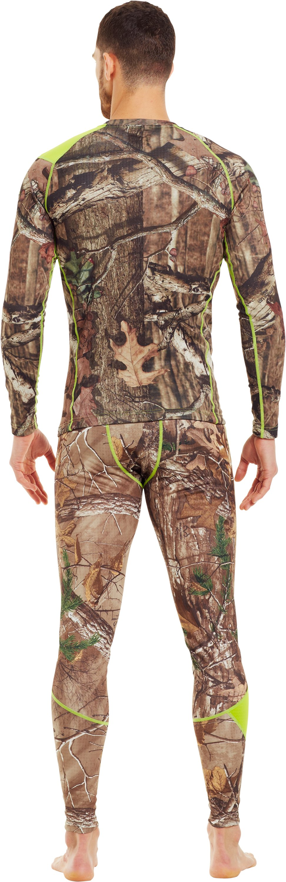 Men's UA Base™ 2.0 Scent Control Crew, Mossy Oak Break-Up Infinity, Back