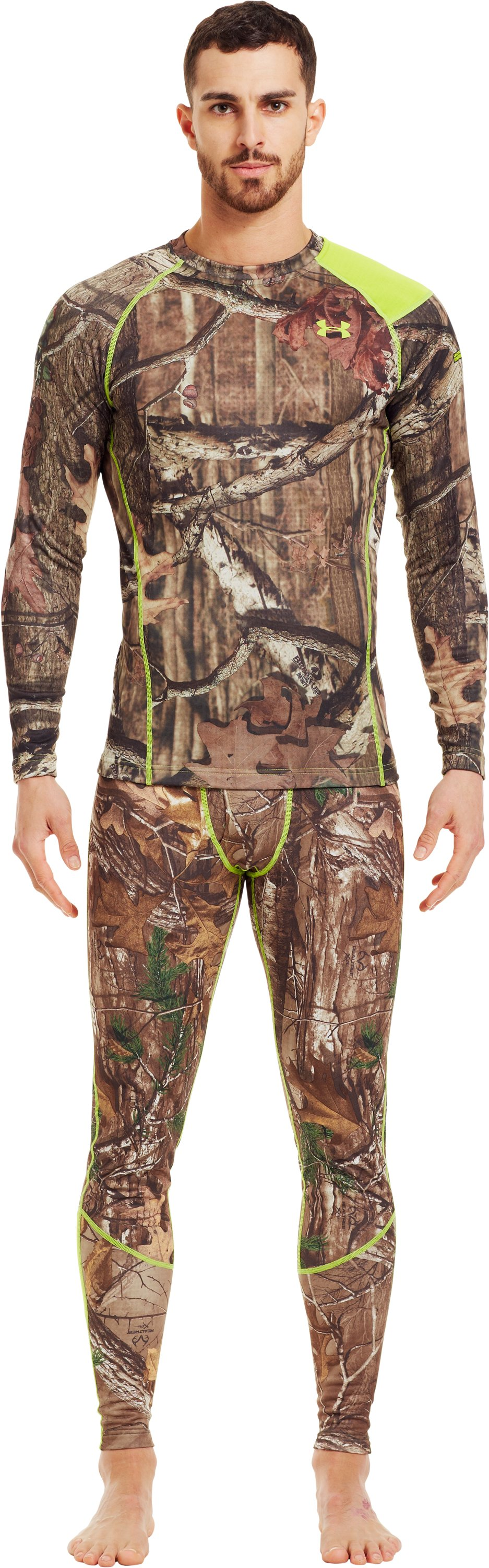 Men's UA Base™ 2.0 Scent Control Crew, Mossy Oak Break-Up Infinity