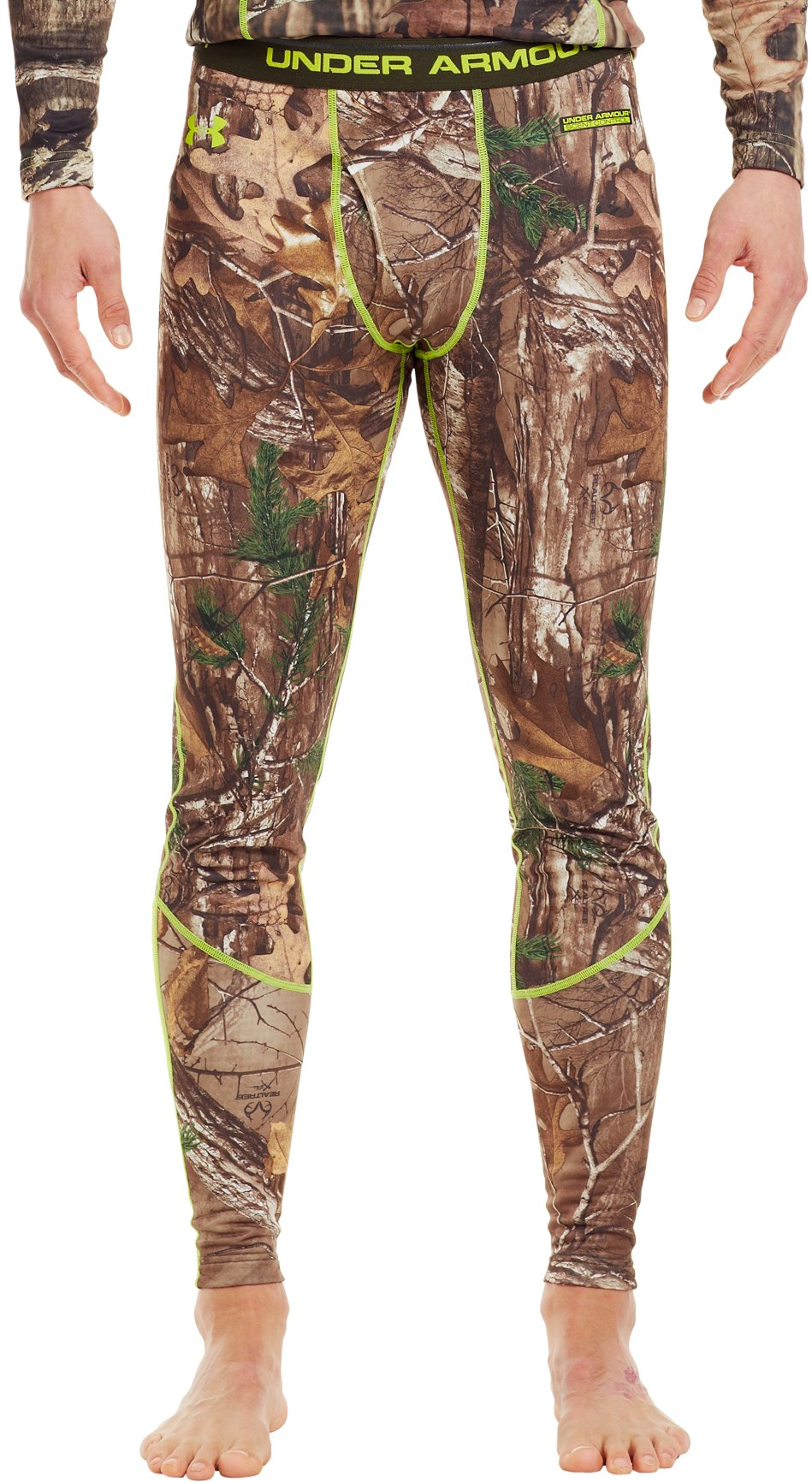 Men's UA Base™ 2.0 Scent Control Leggings, REALTREE AP-XTRA, zoomed image