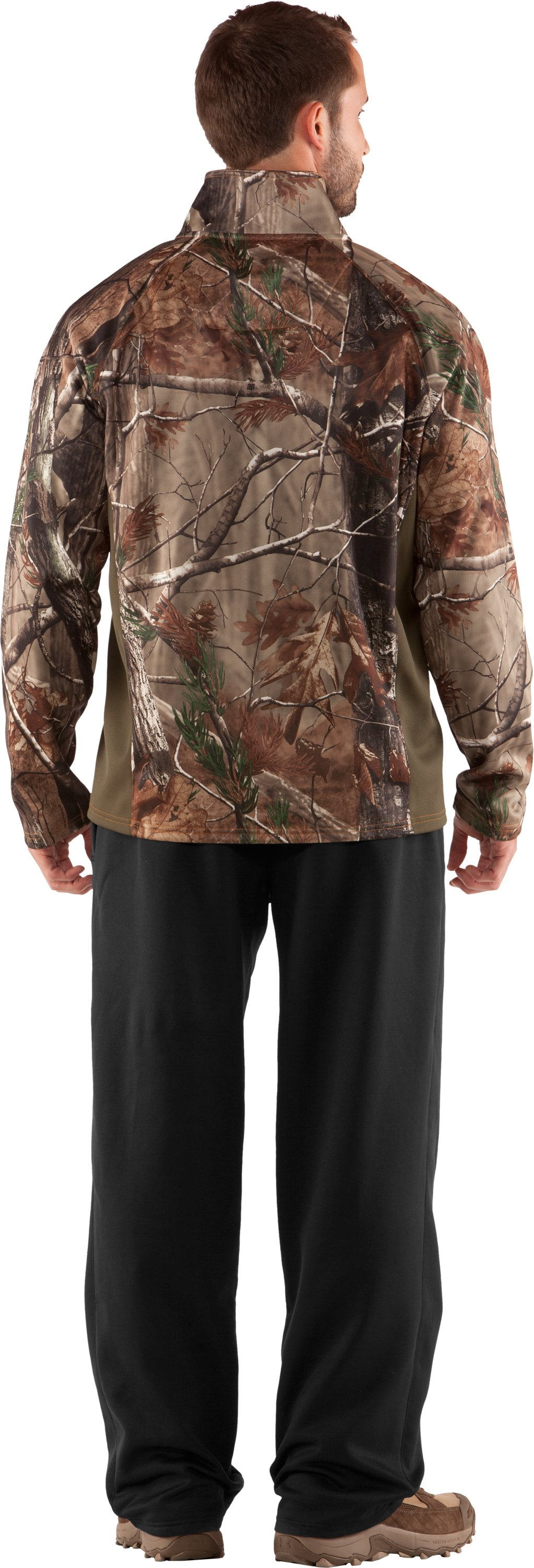 Men's UA Performance ¼ Zip Fleece, Realtree AP, Back