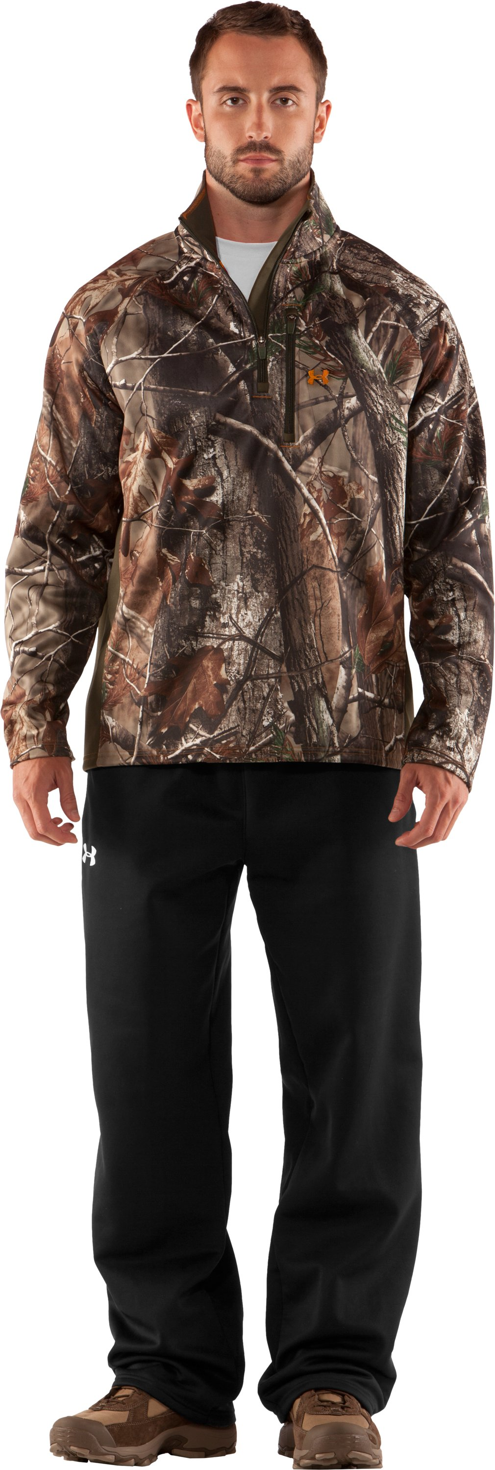 Men's UA Performance ¼ Zip Fleece, Realtree AP, Front