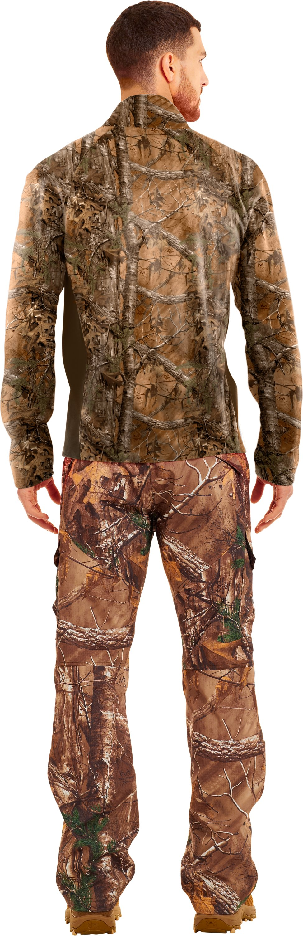 Men's UA Performance ¼ Zip Fleece, REALTREE AP-XTRA, Back
