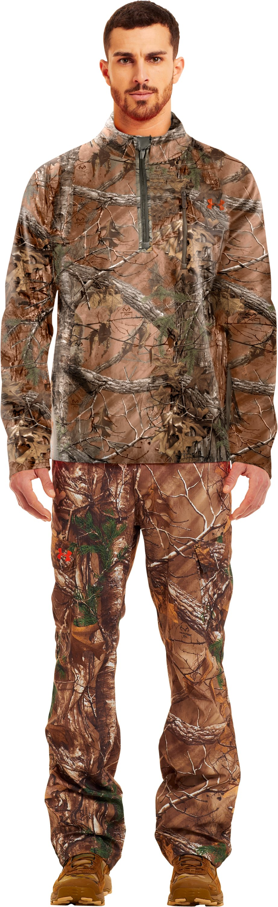 Men's UA Performance ¼ Zip Fleece, REALTREE AP-XTRA, Front