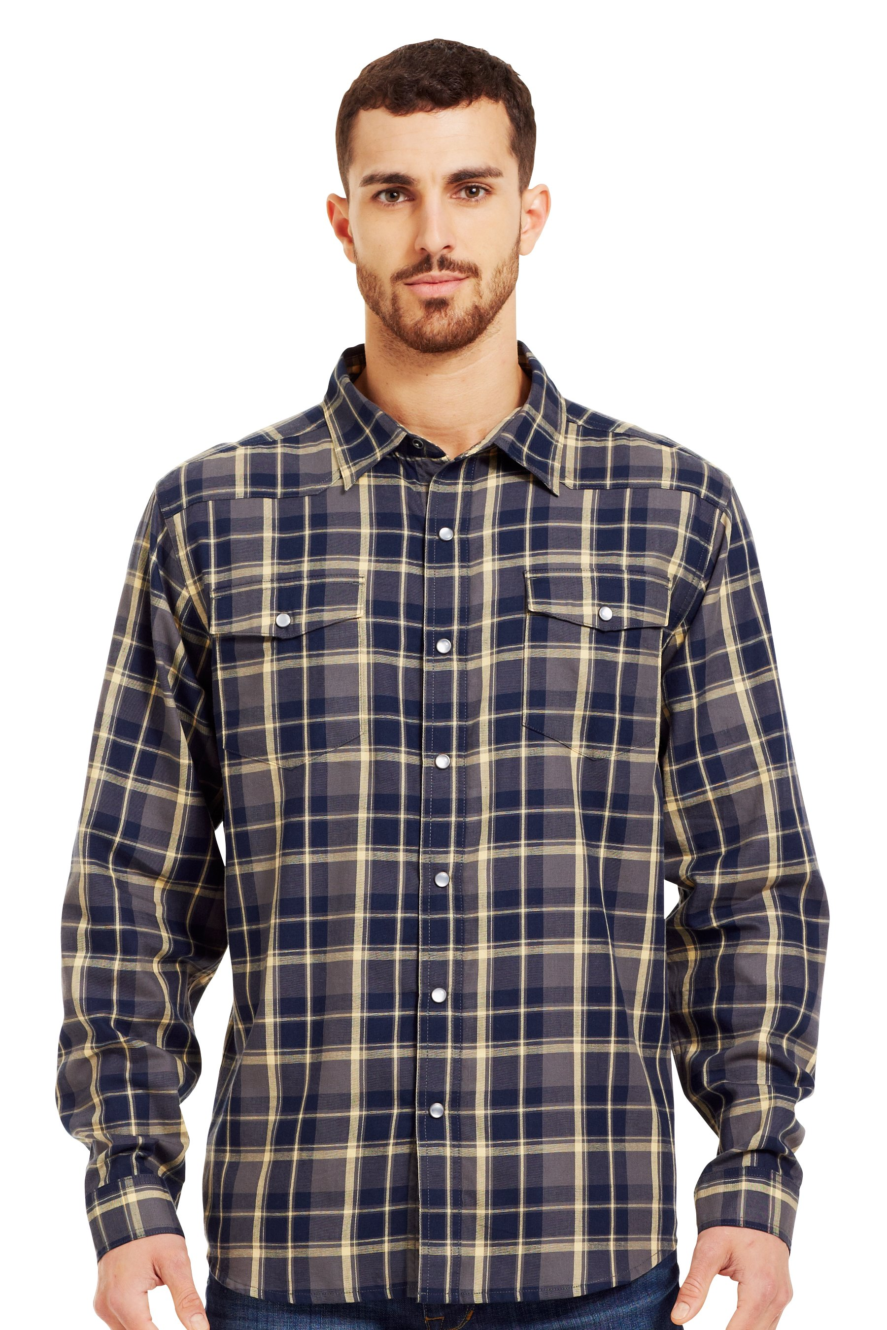 Men's UA Sixshooter Flannel, Battleship, zoomed image