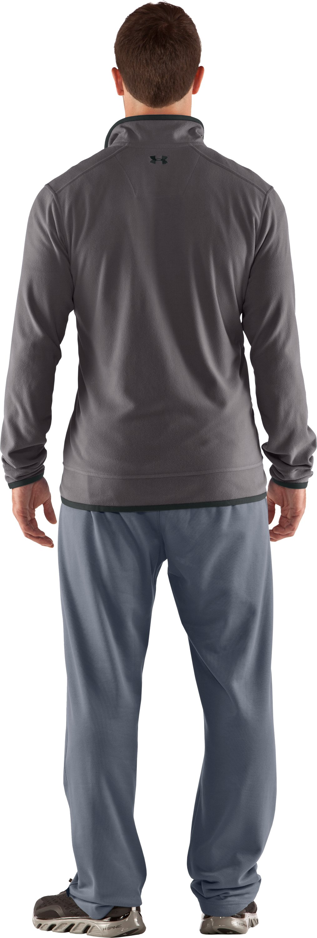 Men's UA Furrow ¼ Zip Fleece, Storm, Back