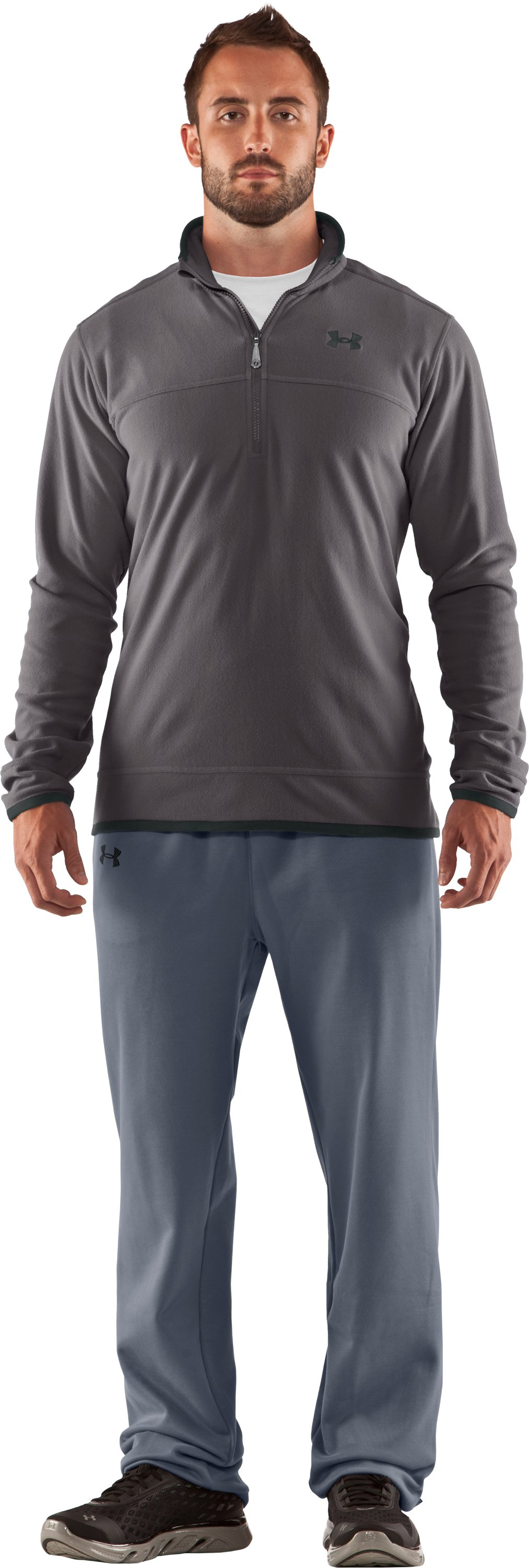 Men's UA Furrow ¼ Zip Fleece, Storm, Front