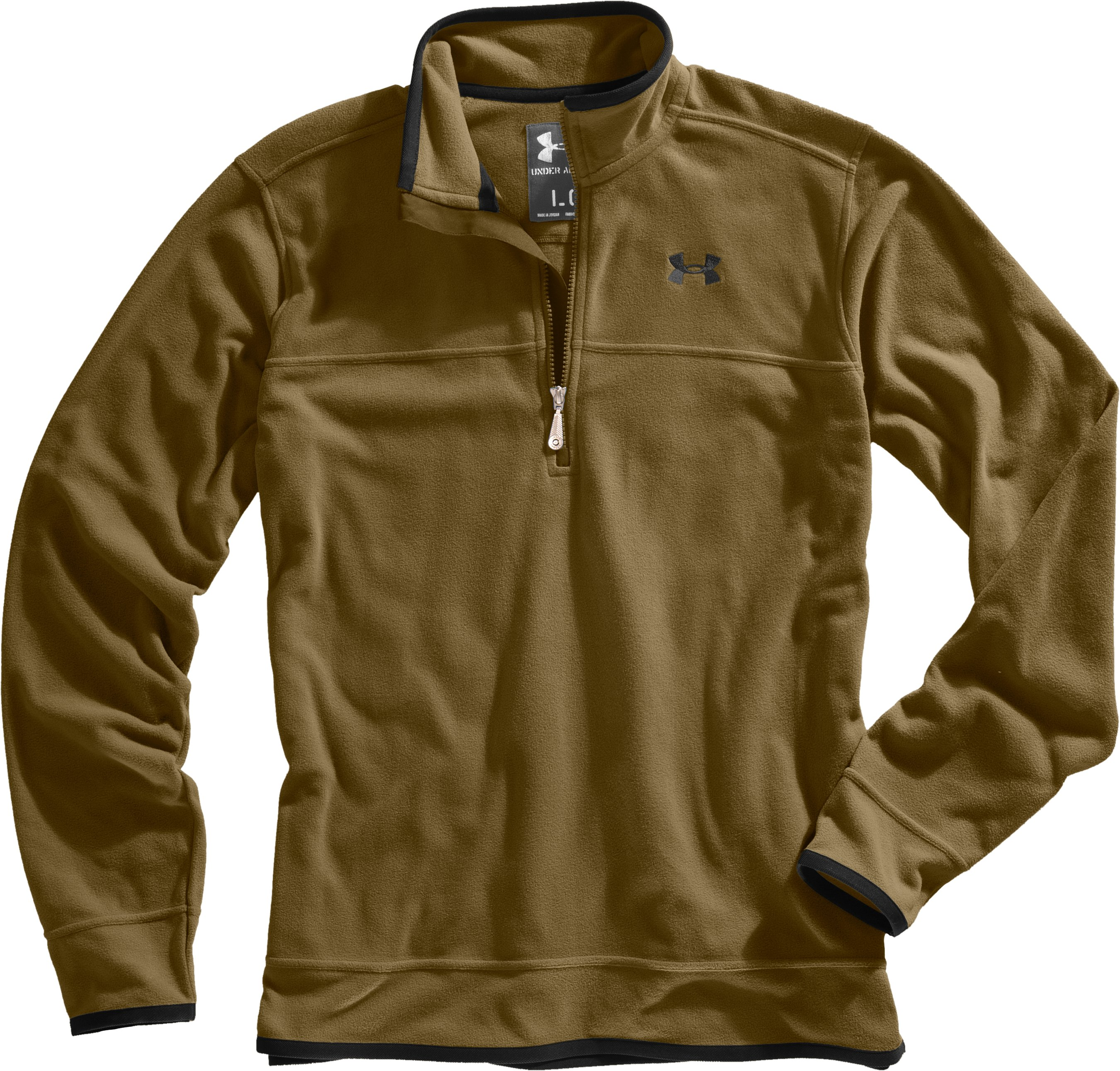 Men's UA Furrow ¼ Zip Fleece, Drab, Laydown