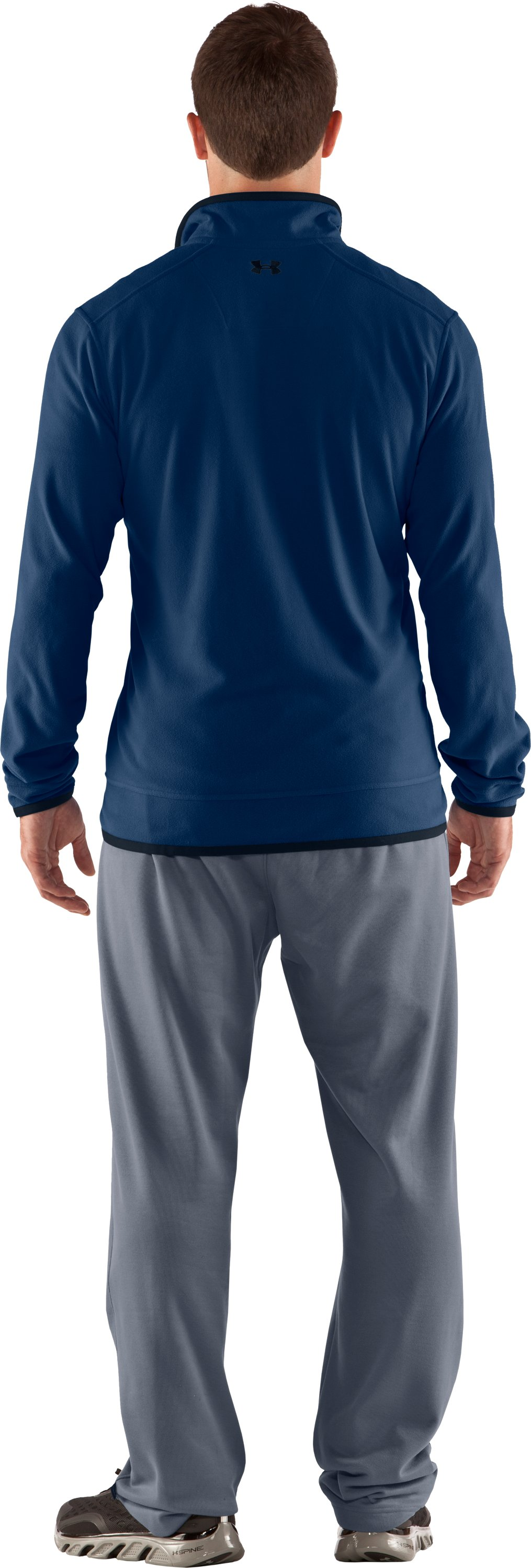 Men's UA Furrow ¼ Zip Fleece, Strategic, Back