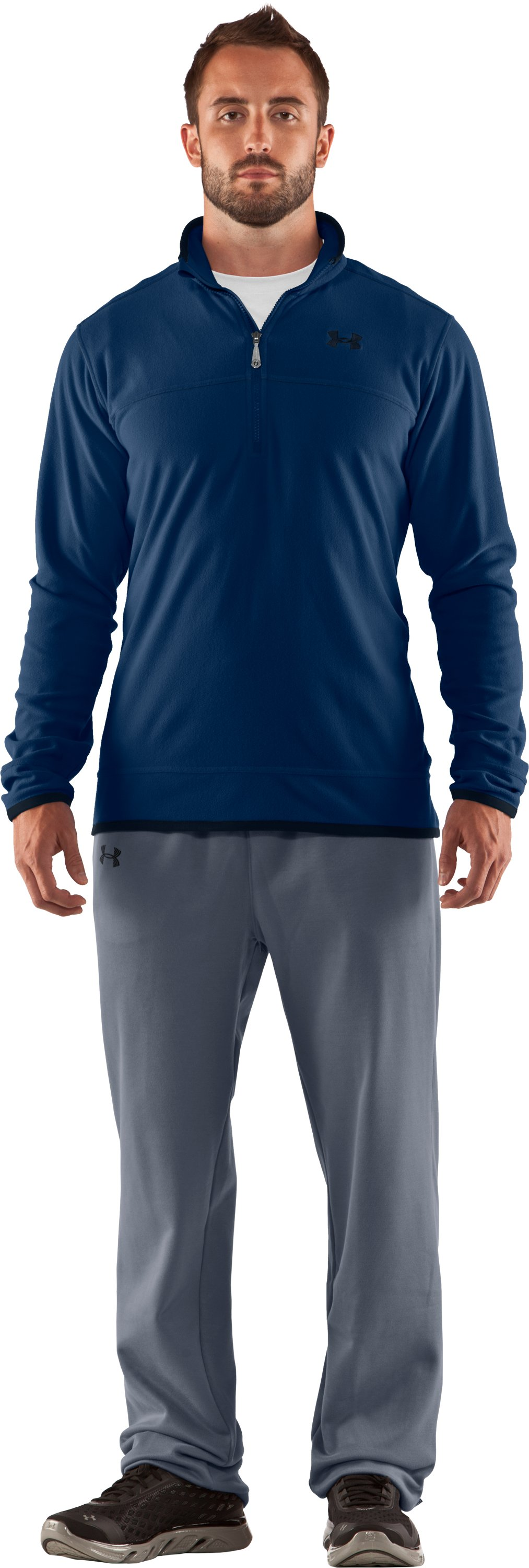 Men's UA Furrow ¼ Zip Fleece, Strategic, Front