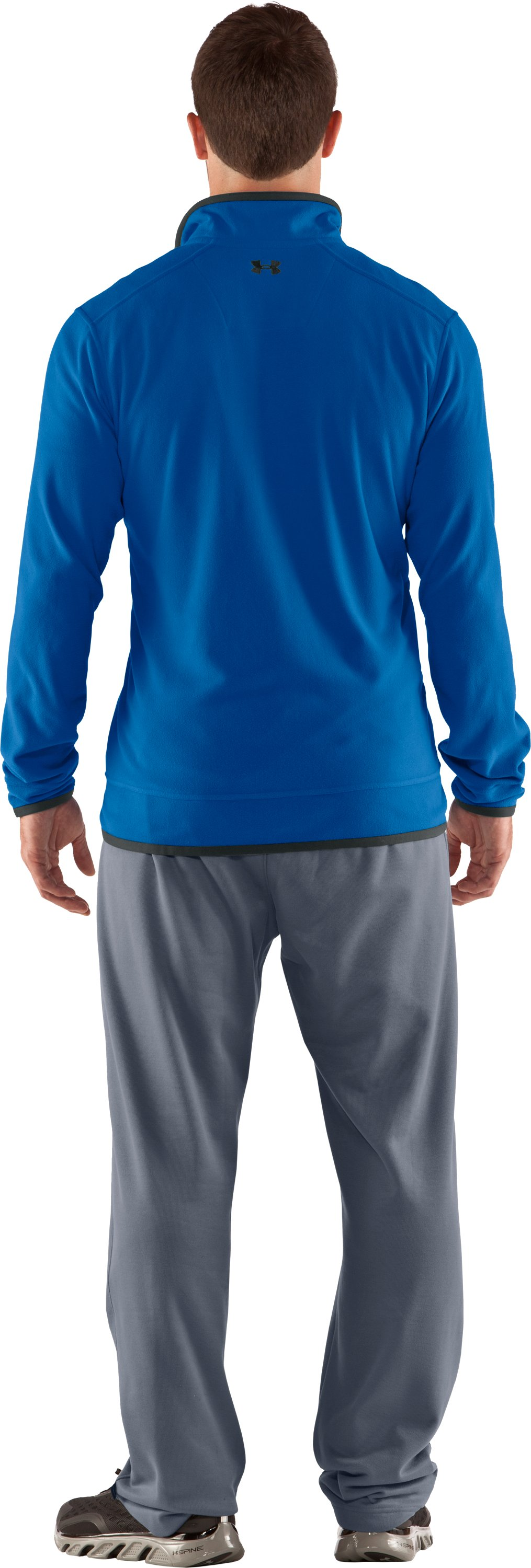 Men's UA Furrow ¼ Zip Fleece, St. Tropez, Back