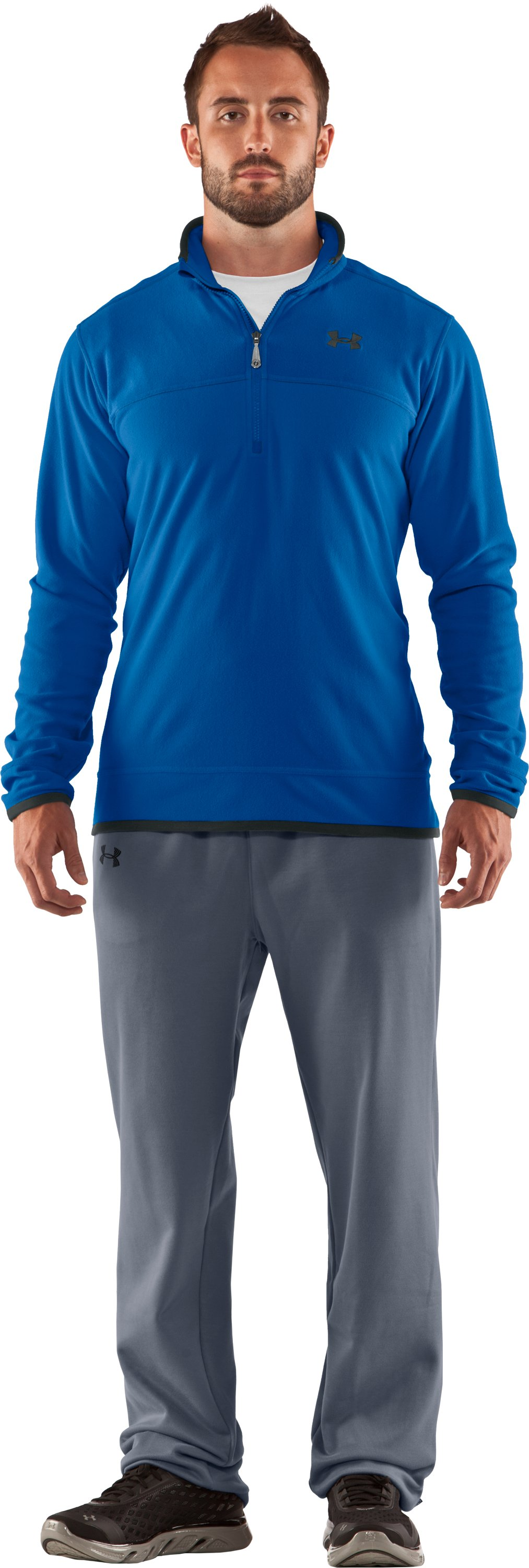 Men's UA Furrow ¼ Zip Fleece, St. Tropez, zoomed image