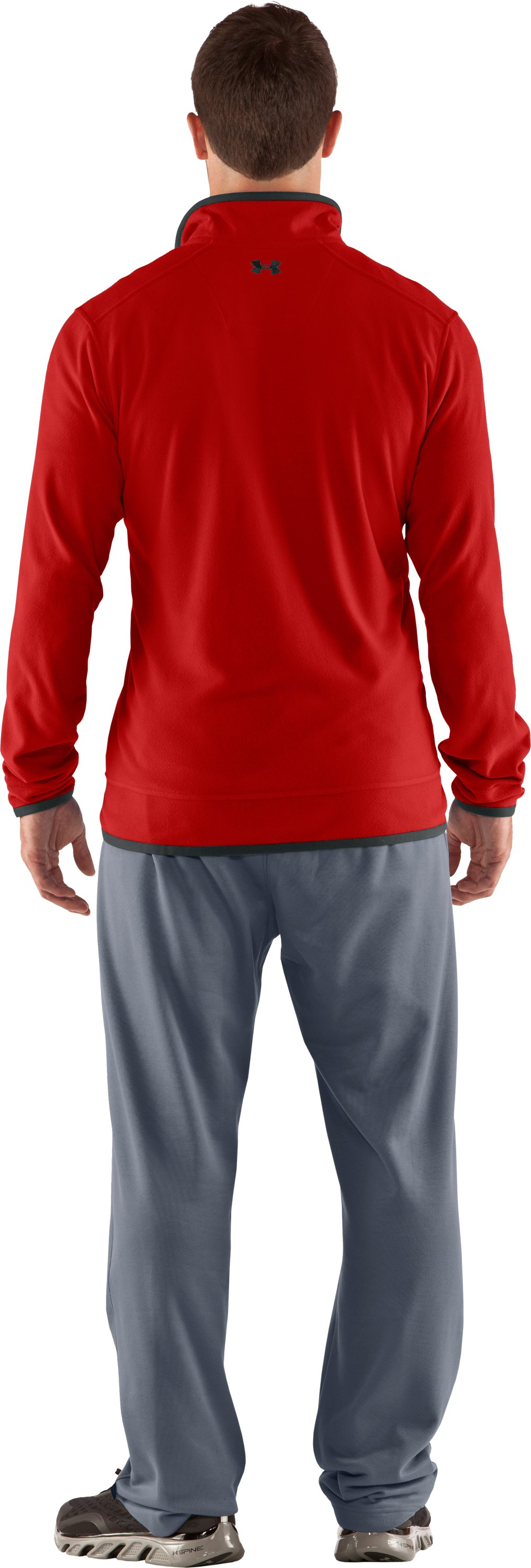 Men's UA Furrow ¼ Zip Fleece, Fireball, Back