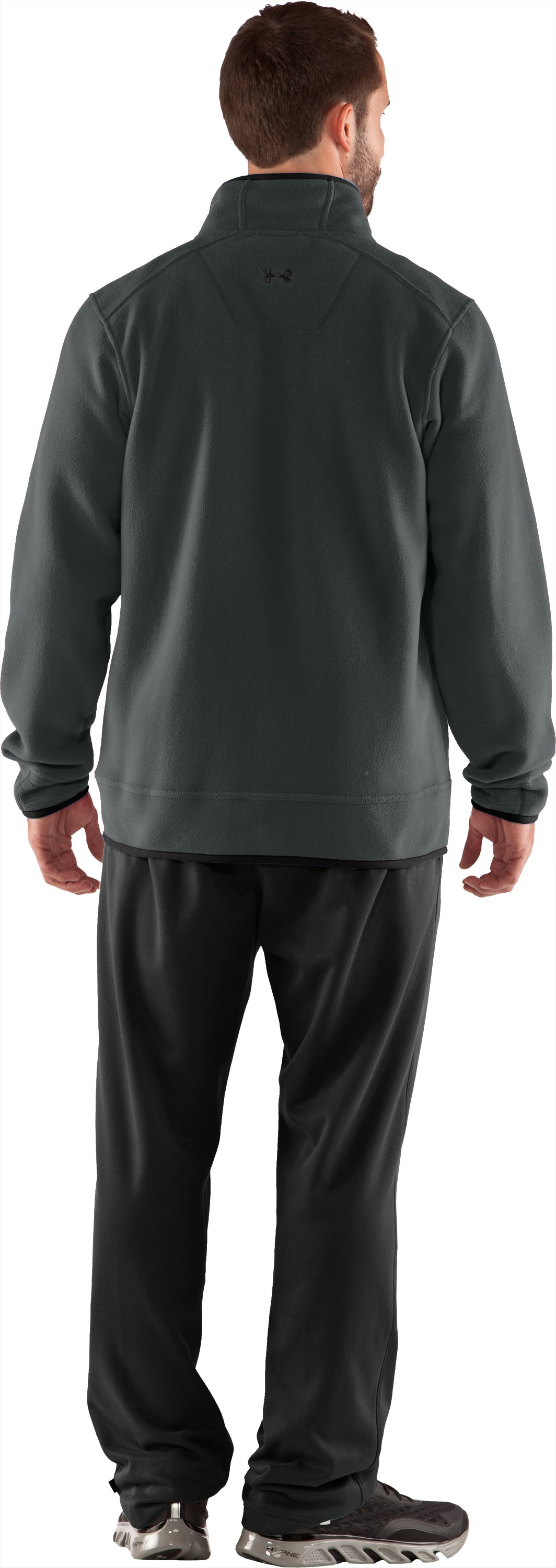 Men's UA Furrow Fleece Jacket, Battleship, Back