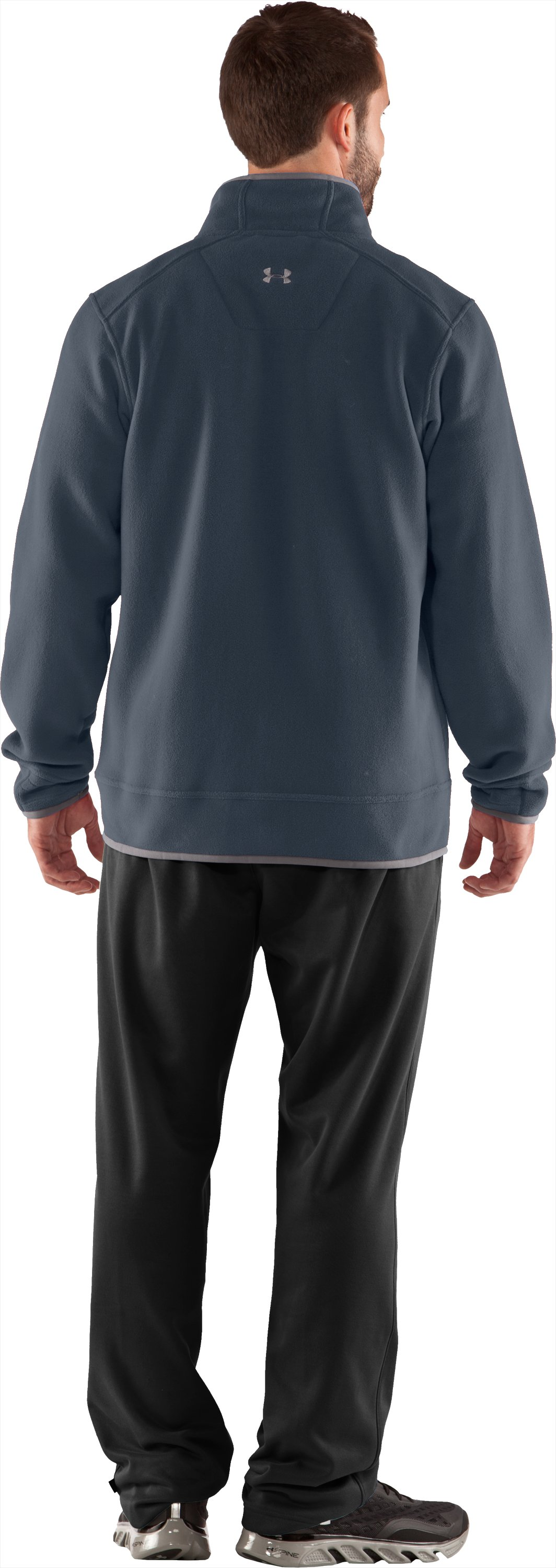 Men's UA Furrow Fleece Jacket, Cadet, Back