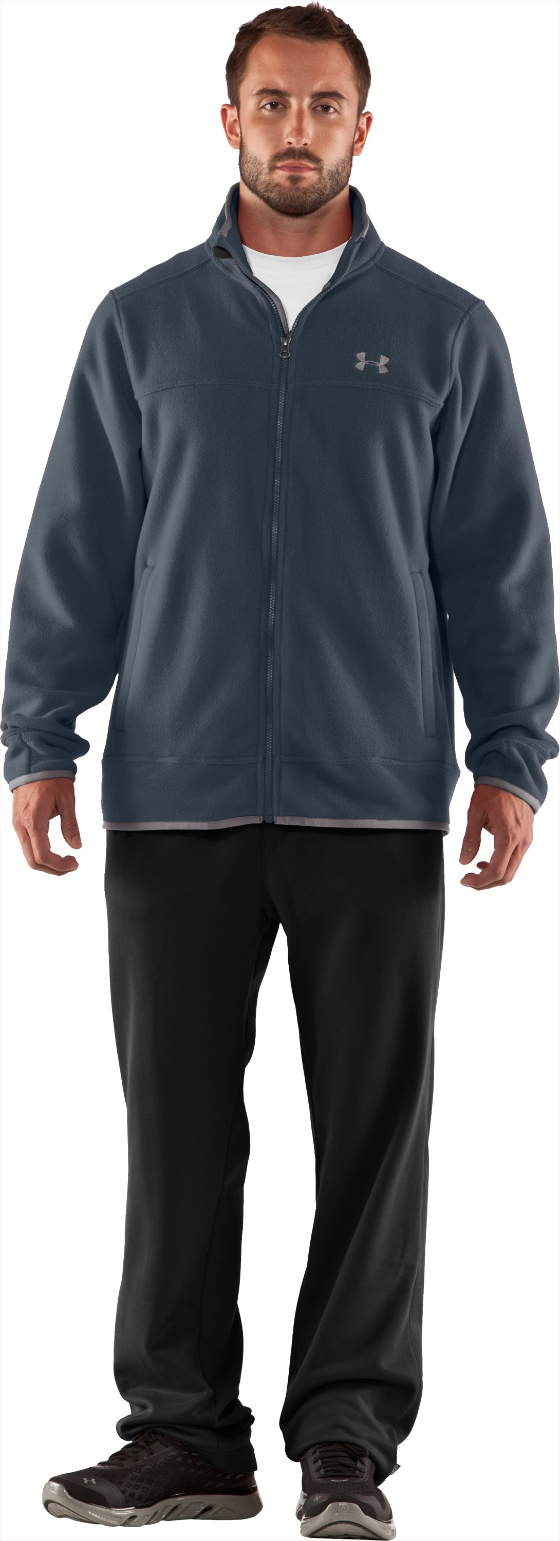 Men's UA Furrow Fleece Jacket, Cadet, Front