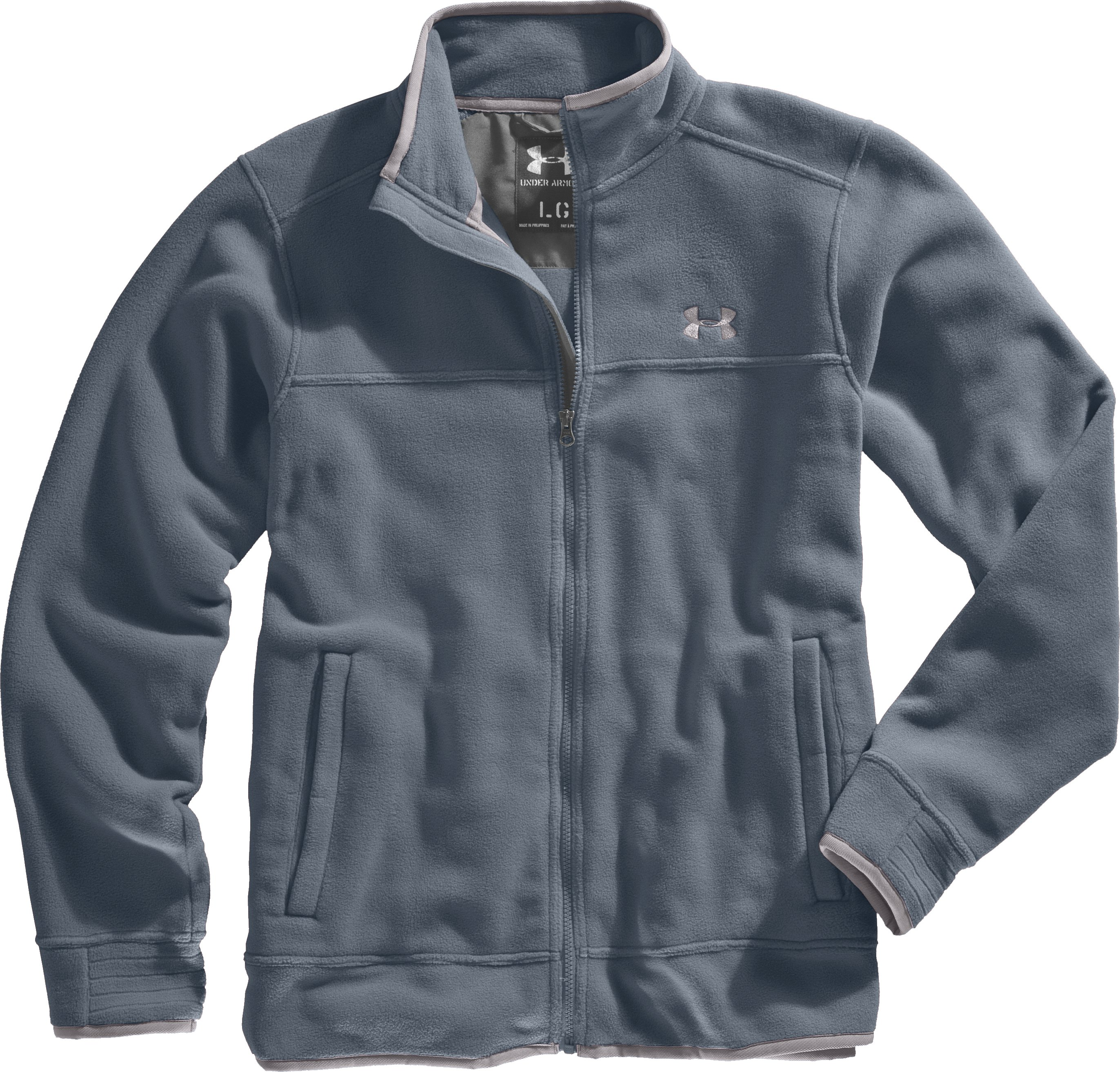 Men's UA Furrow Fleece Jacket, Cadet, Laydown