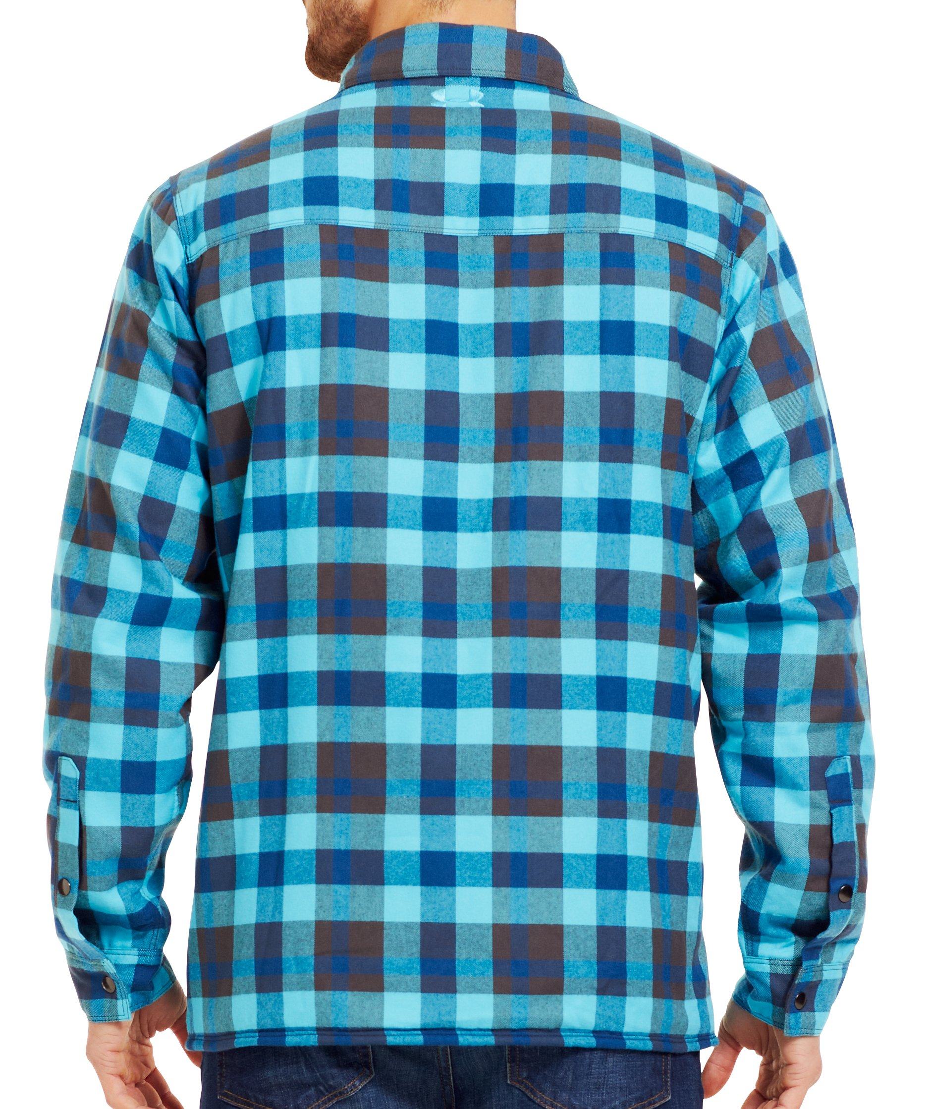 Men's UA Lined Shirt-Jacket, PETROL BLUE, Back