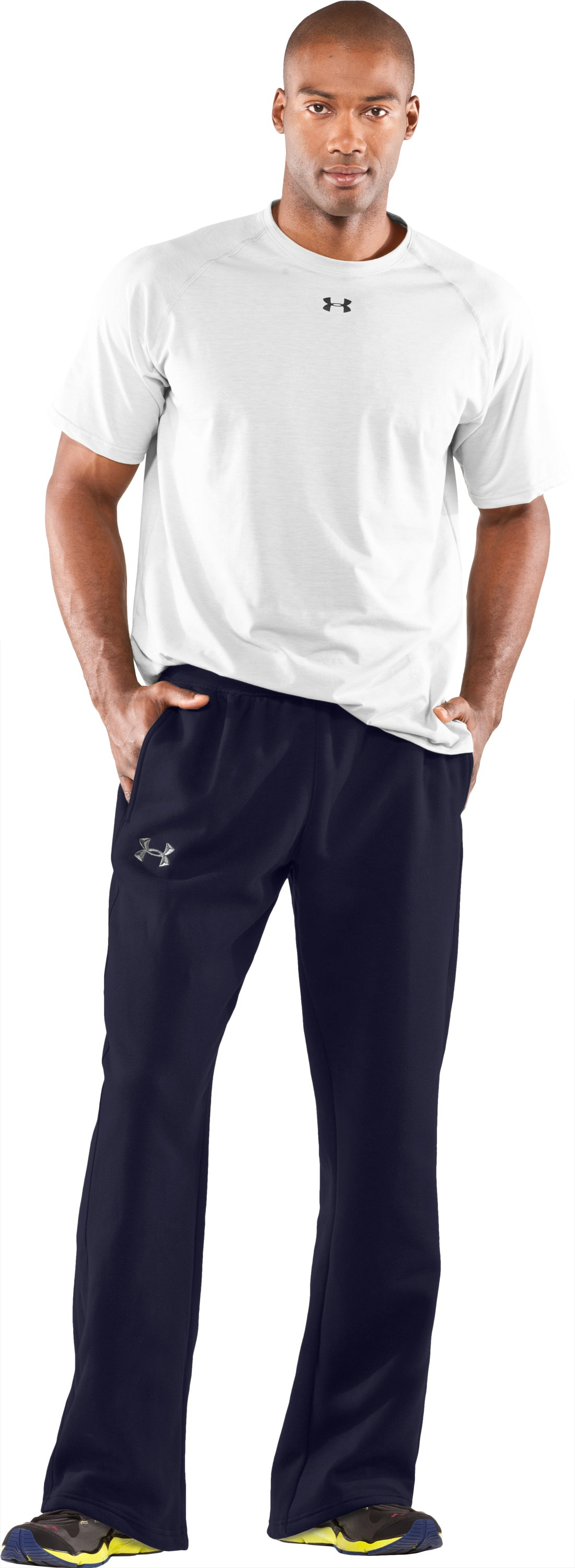 Men's Team Charged Cotton® Storm Pants, Midnight Navy, zoomed image