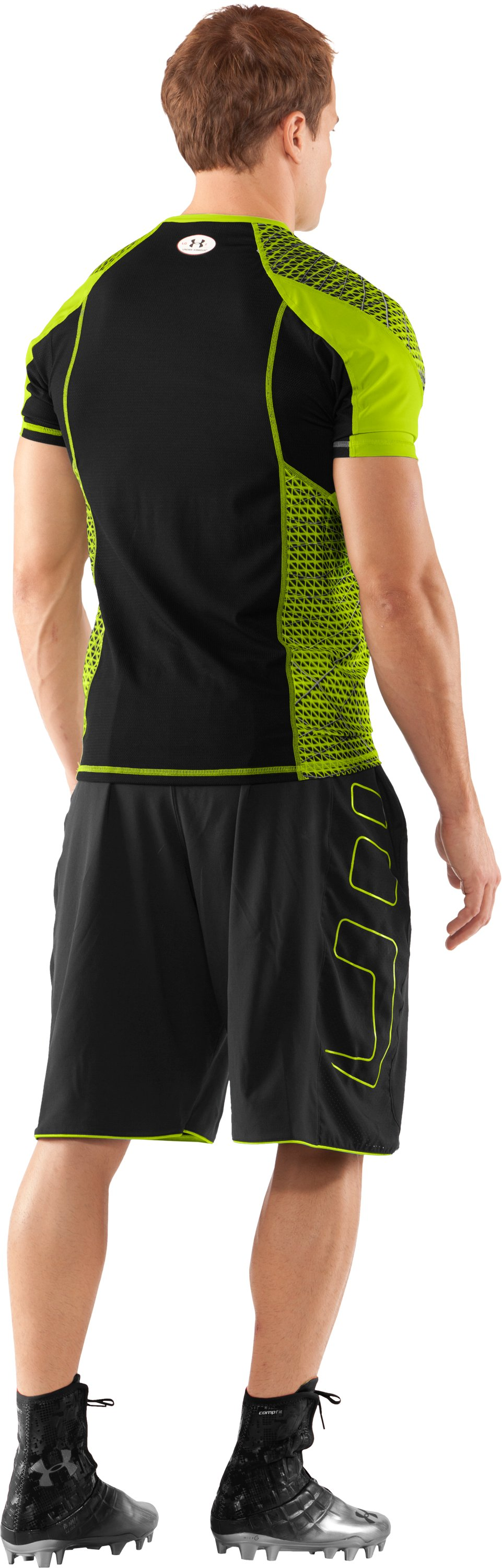 Men's NFL Combine Authentic Warp Speed Fitted Short Sleeve, Velocity, Back